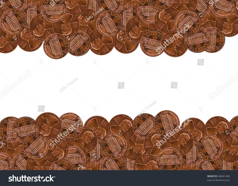 pennies border stock photo 46461436 shutterstock