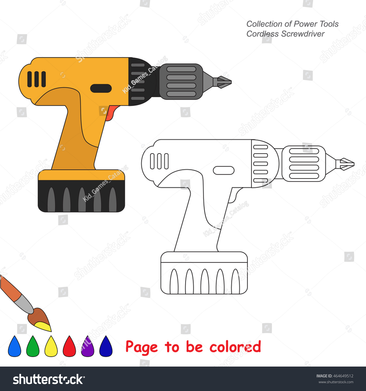 Beautiful Tools Coloring Pages Screwdriver Images - Coloring 2018 ...