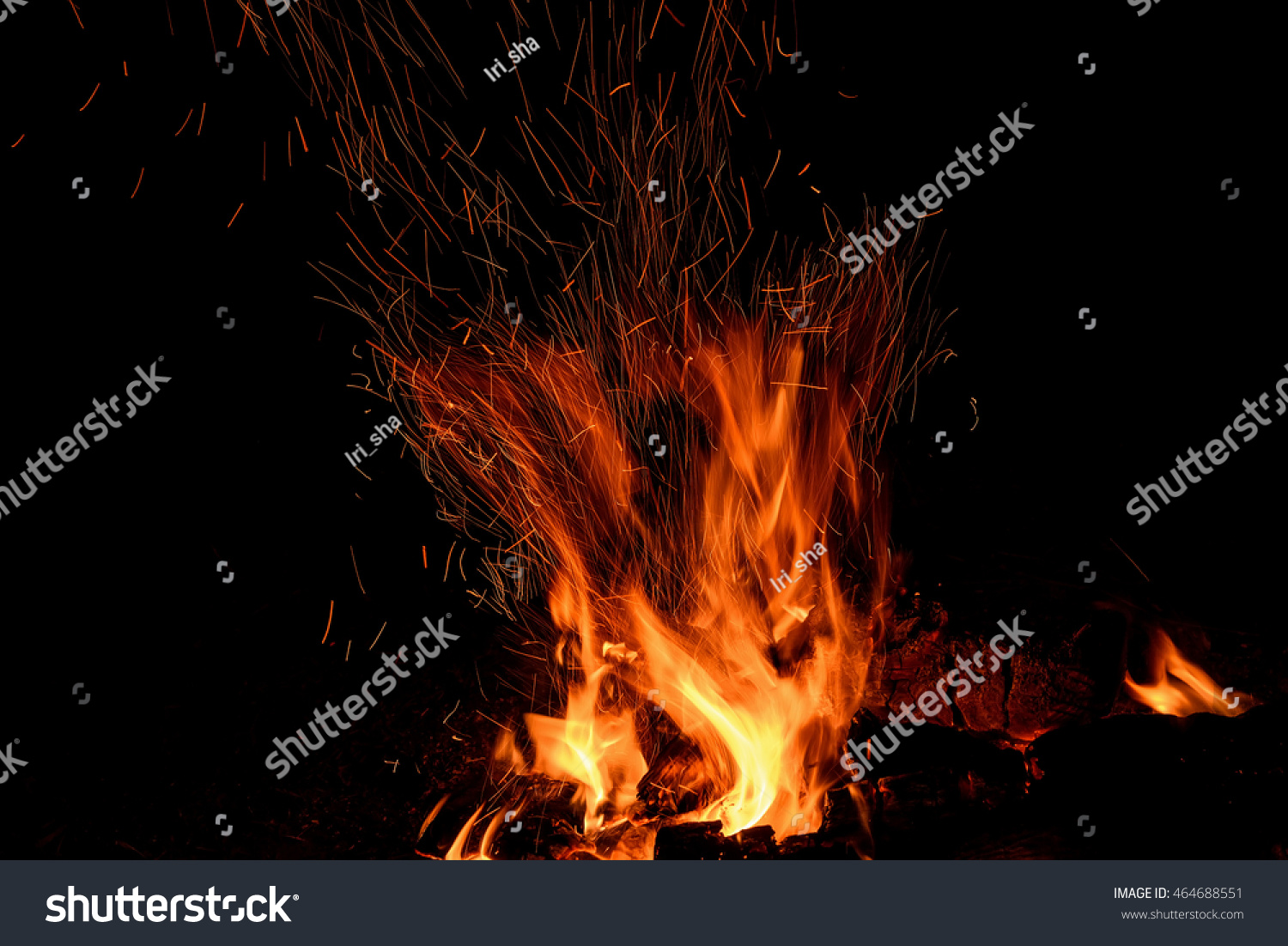 Red Orange Spurts Flames Charcoal Firewood Stock Photo 464688551 ...