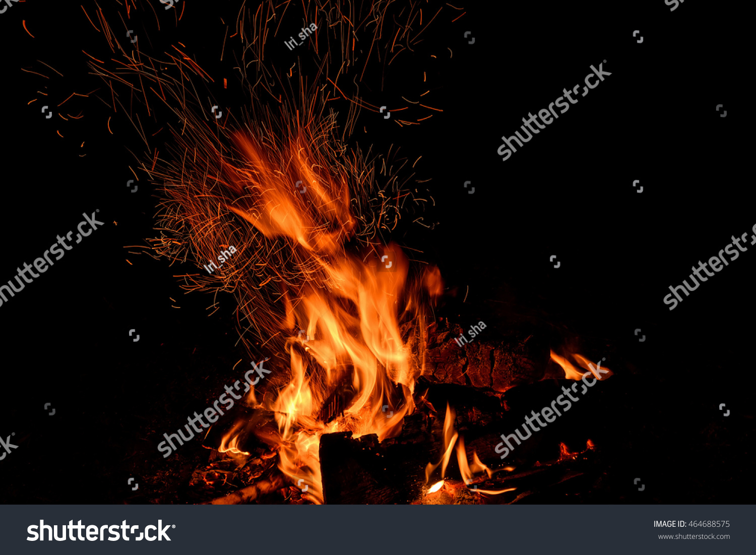 Red Orange Spurts Flames Charcoal Firewood Stock Photo 464688575 ...