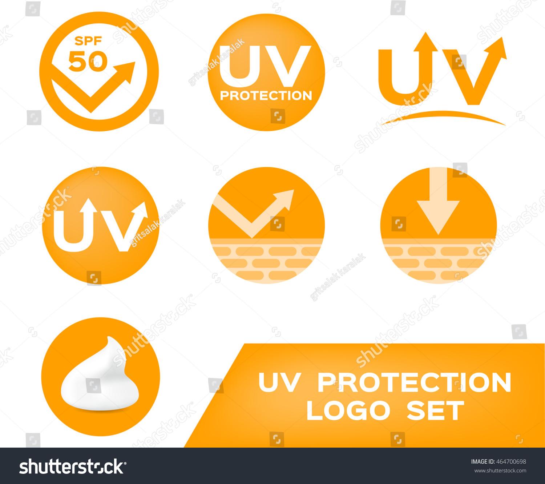 uv protection logo 7 ultraviolet icon のベクター画像素材