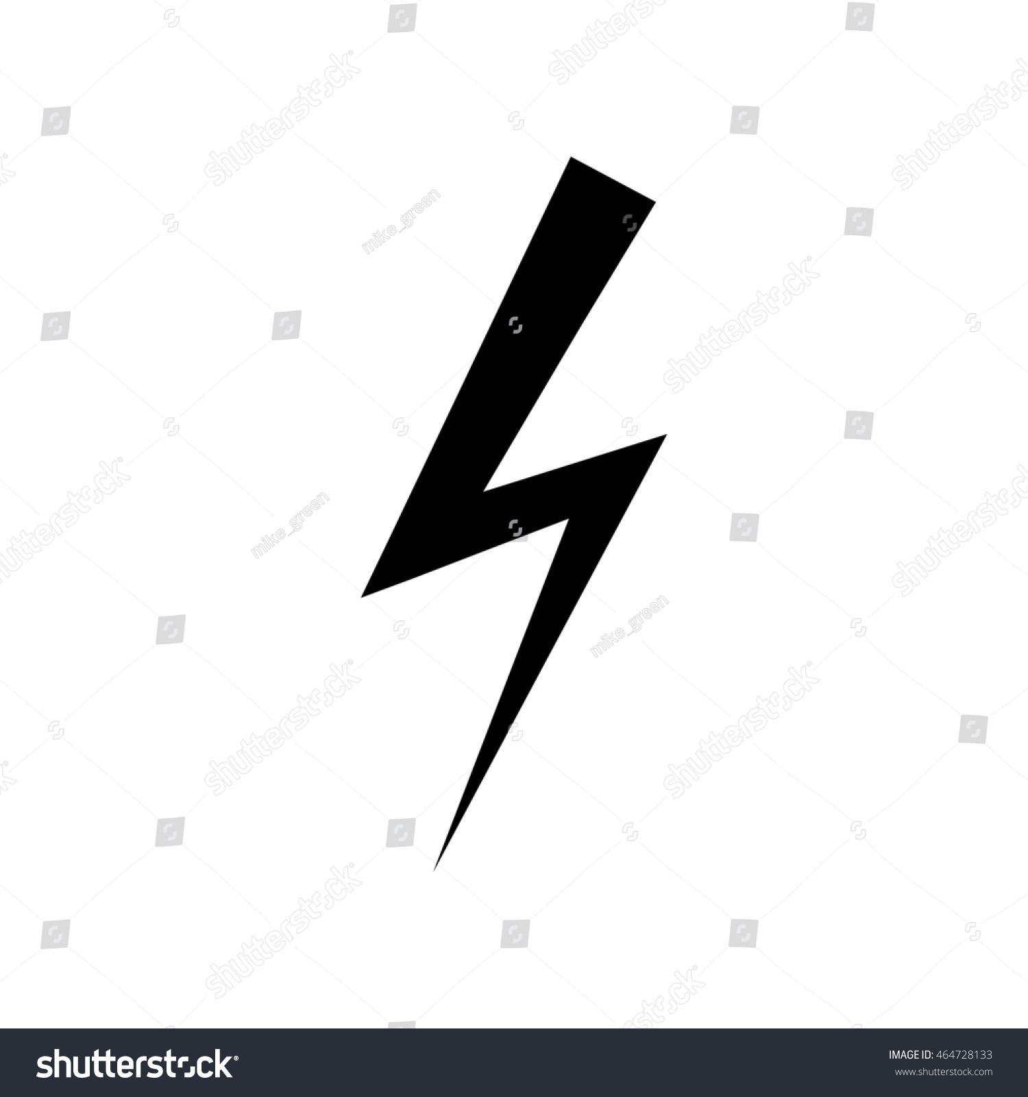 Electricity Icon Lightning Symbol Levin Sign Stock Illustration ...