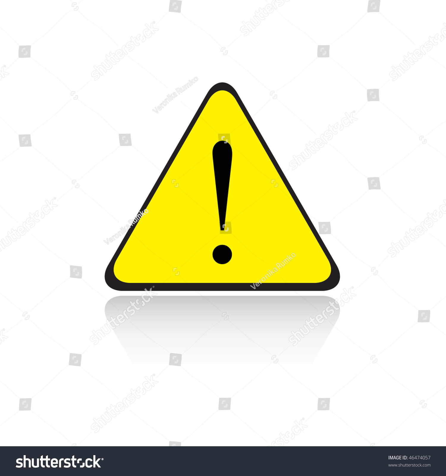 Yellow Triangle Exclamation Sign Stock Vector 46474057 ...