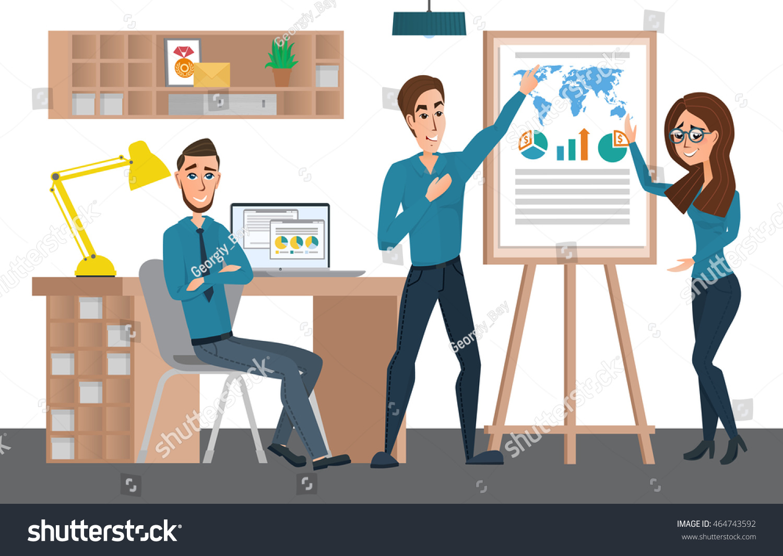 Business Professional Work Team Training Staff Stock Vector ...