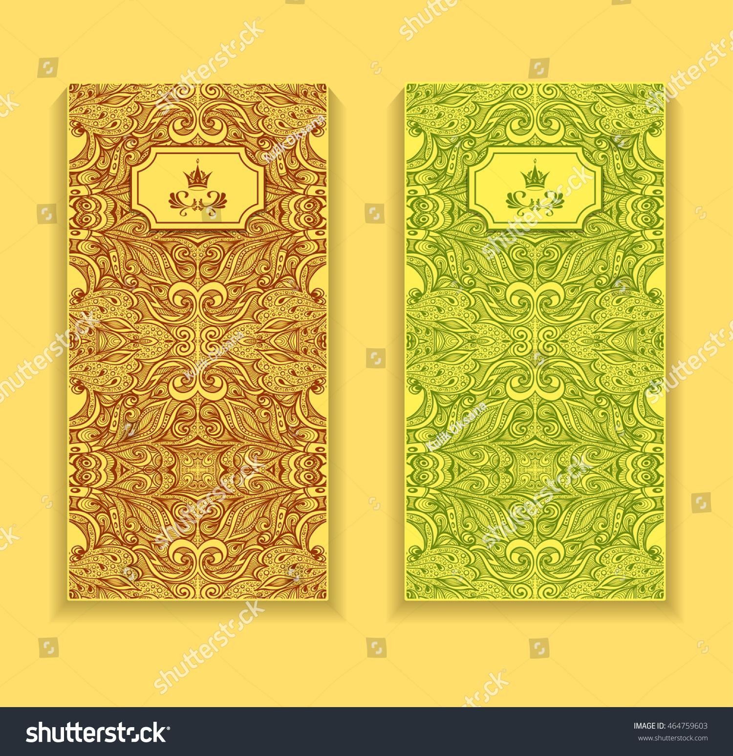 Template Flyer Package Zen Doodle Zen Stock Vector Royalty Free