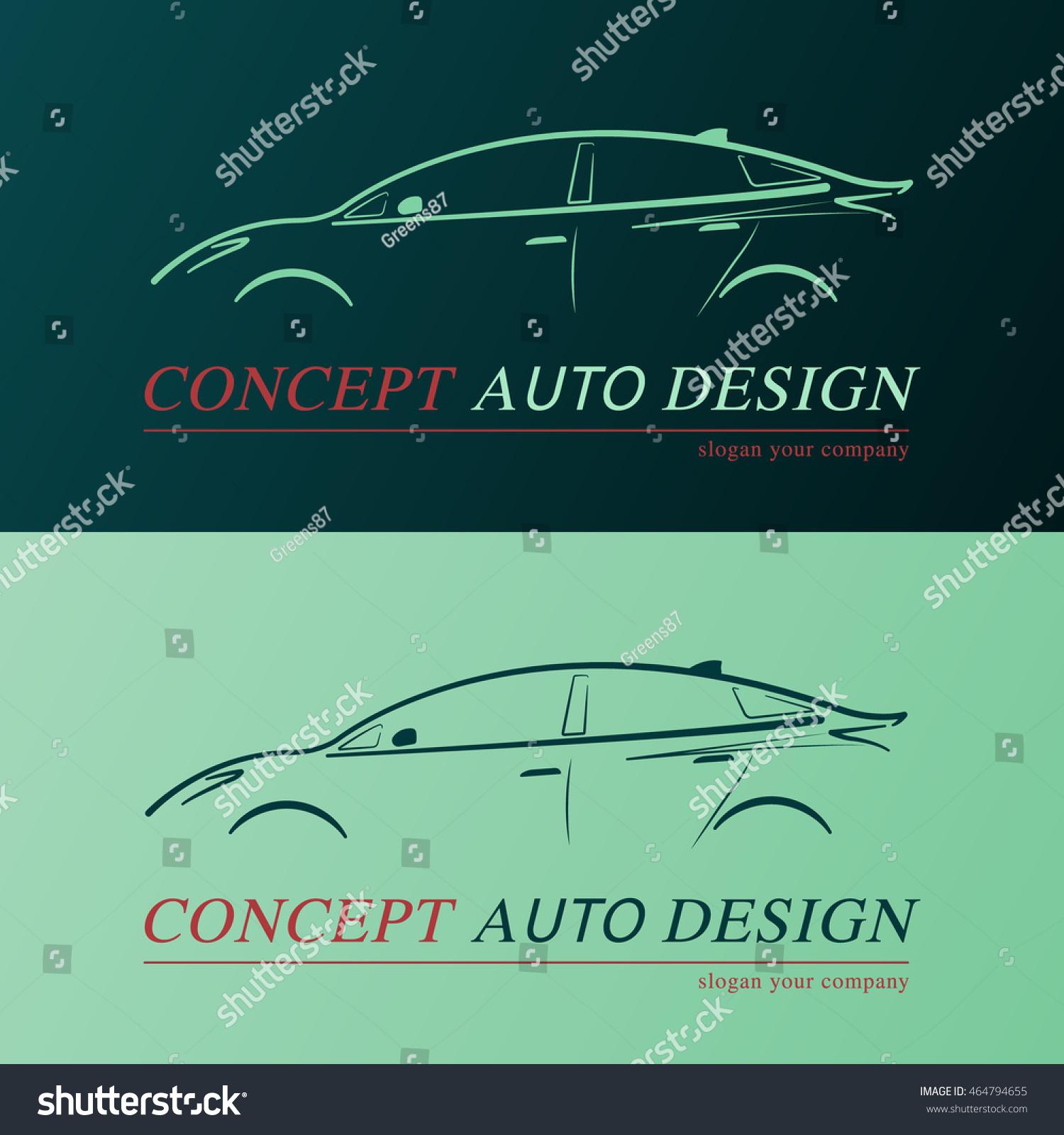 Concept Auto Design Card Business Card Stock Vector