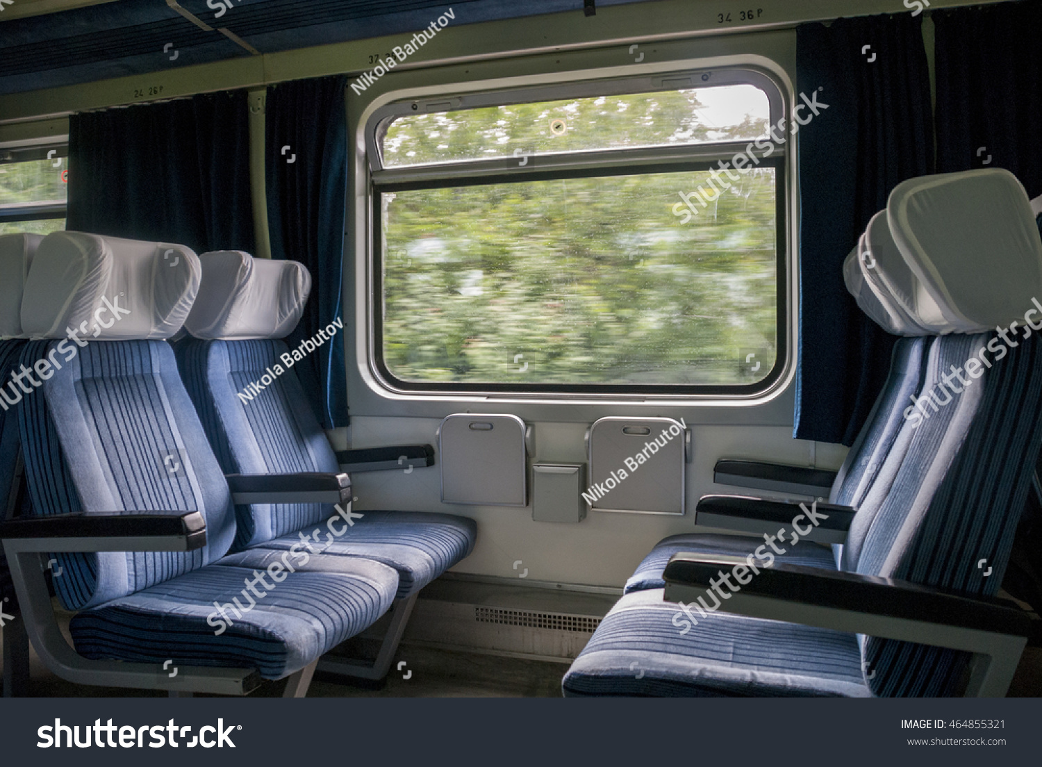 Travel by train with comfort. Coupe in trains