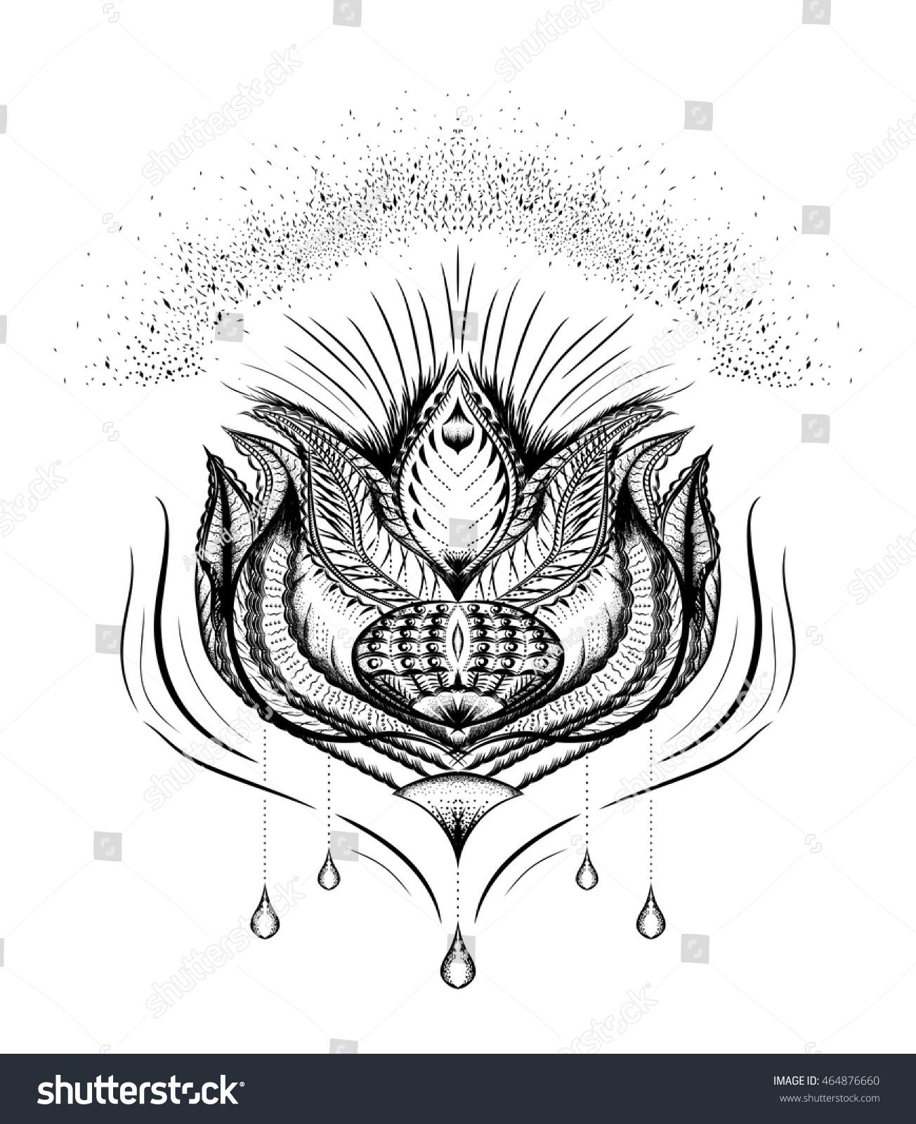 Stylized Lotus Flower Mandala Symbol Yoga Stock Vector Royalty Free