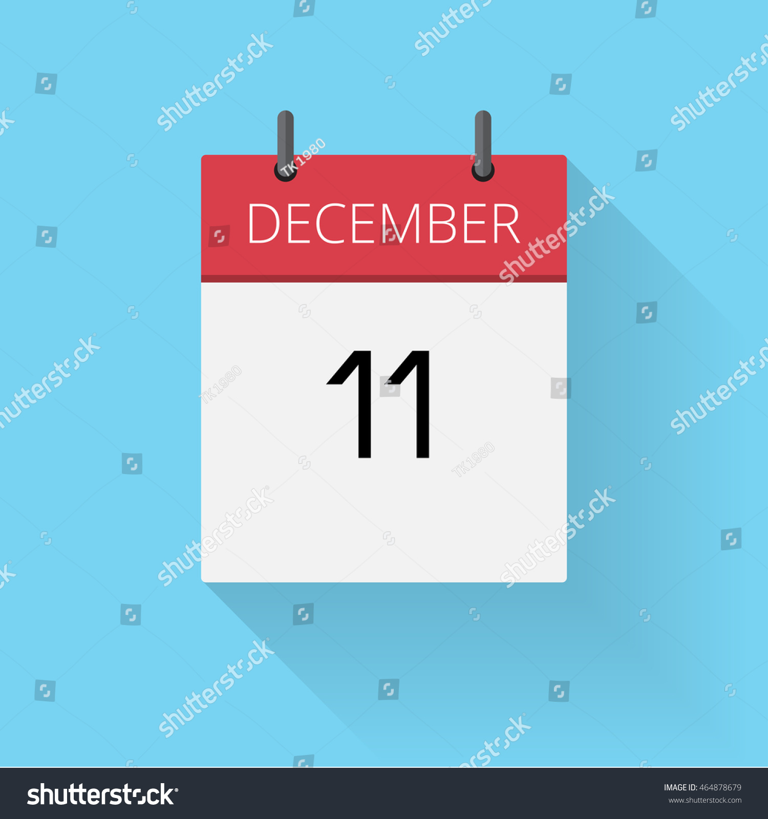 December 11 Daily Calendar Icon Date Stock Vector Royalty Free