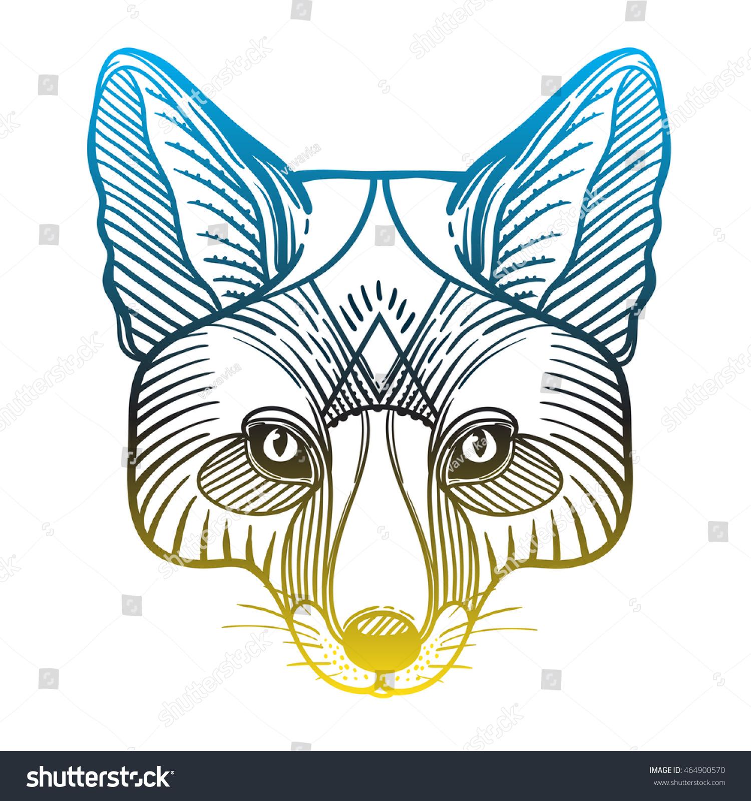 Animal Fox Head Print Adult Anti Stock Vector (Royalty Free ...