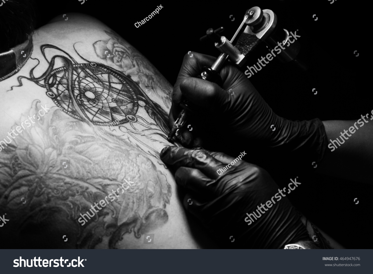 Tattooist Making By Professional Artist Tattooing Stock Photo Edit Now 464947676