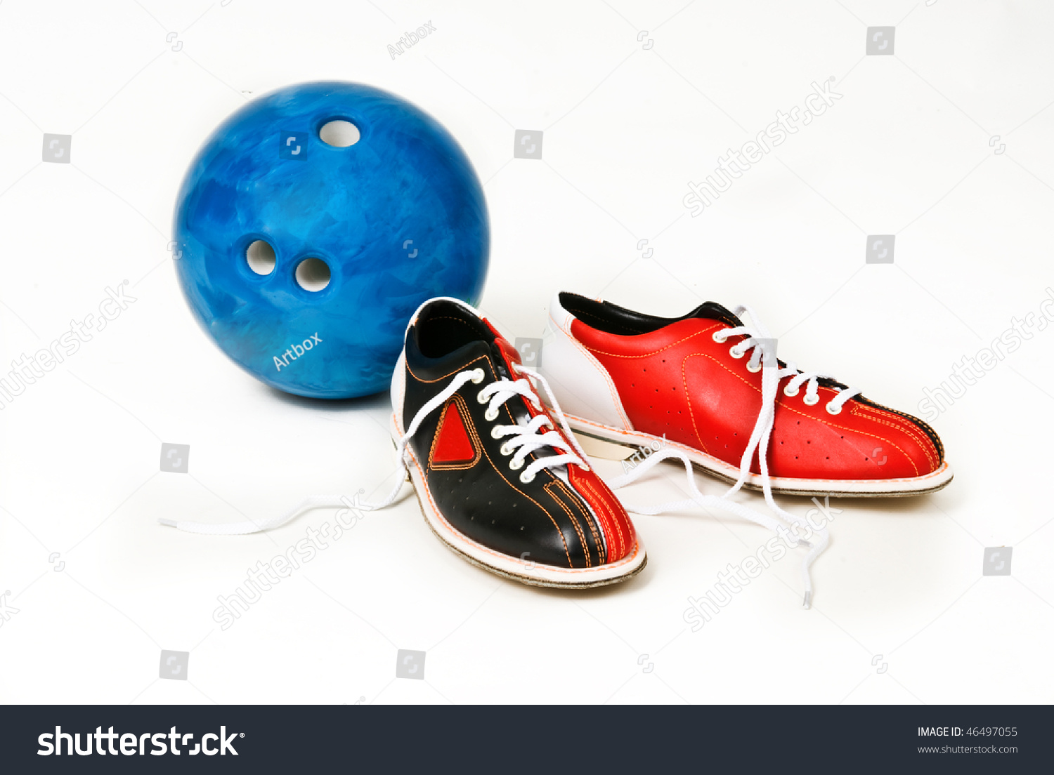 Shoes Bowling Ball Stock Photo 46497055 - Shutterstock