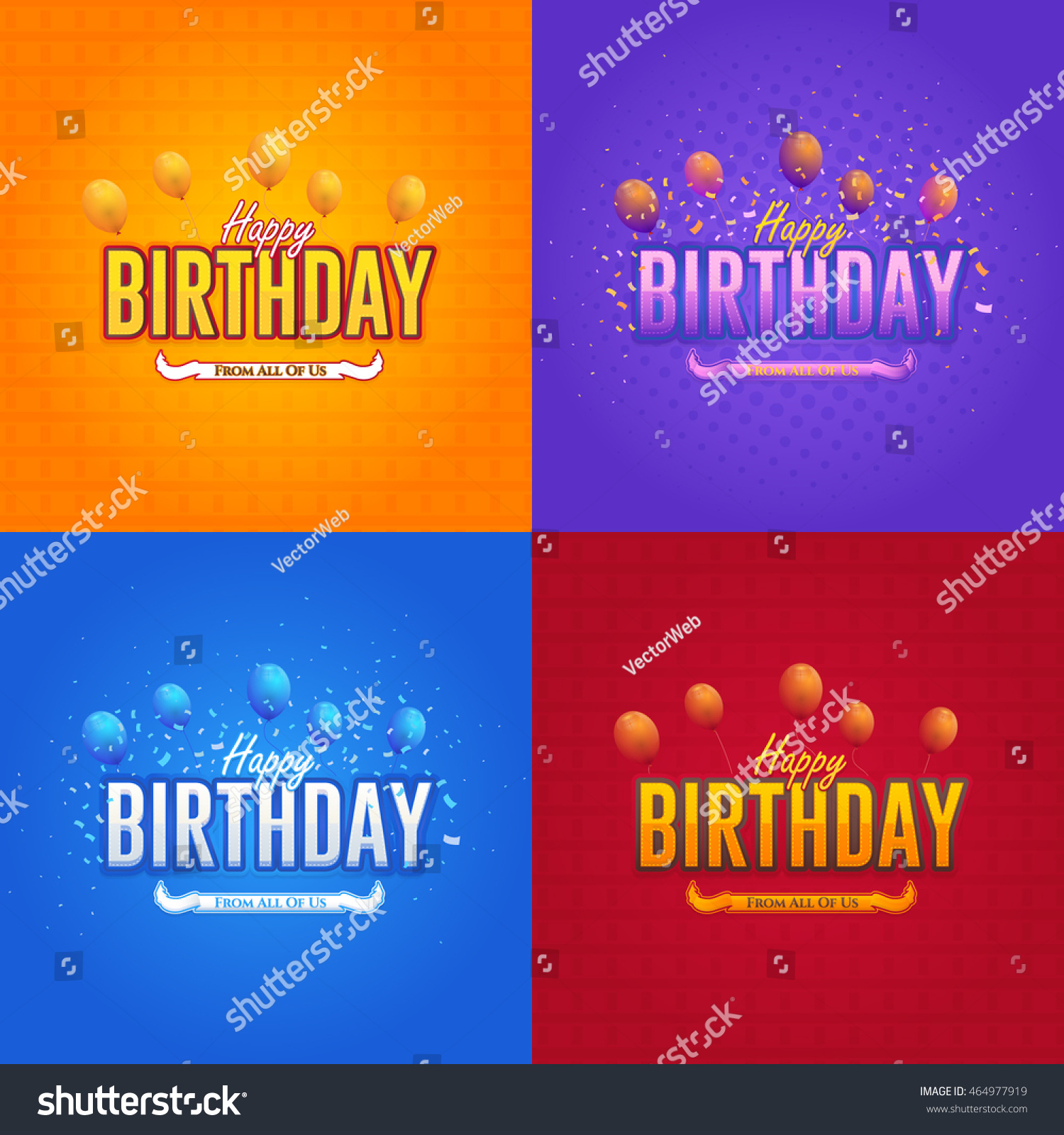 Colorful Stylish Text Happy Birthday Message Stock Vector