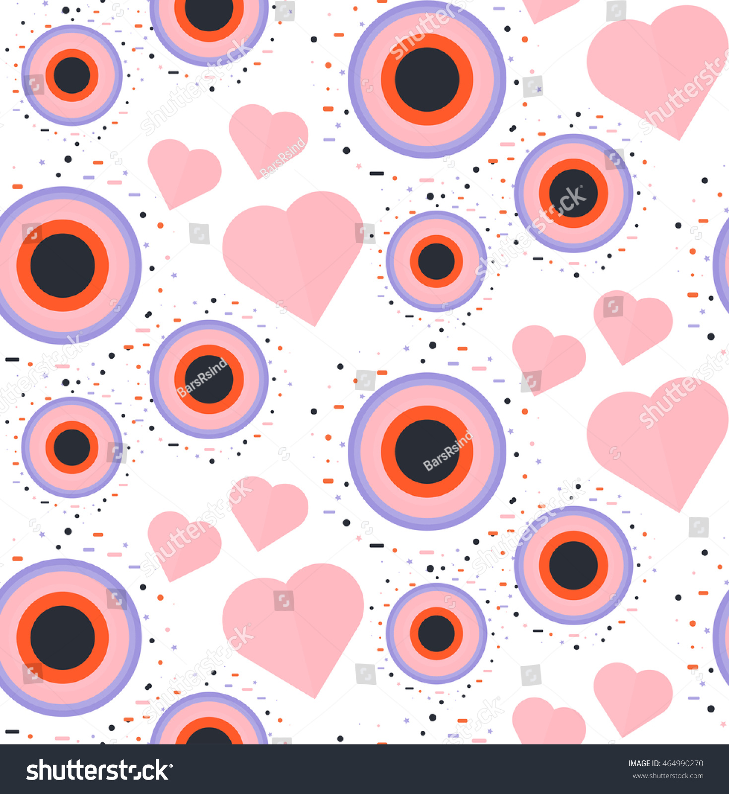 Romantic vector seamless background greeting card wallpaper vector art -  Vectors Illustrations Footage Music Seamless Romantic Pattern For Wrap Print Fabric Textile Greeting Card Ornament