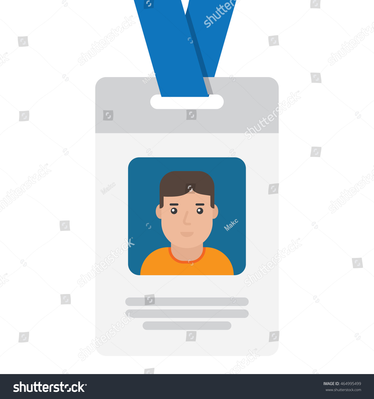 User Id Card Female Photo Business Stock Vector 464995499 ...