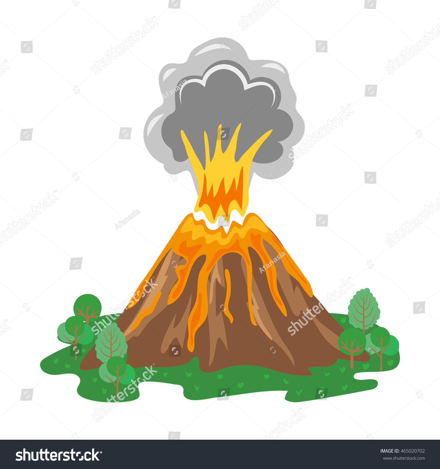 Volcano Eruption Smoke...