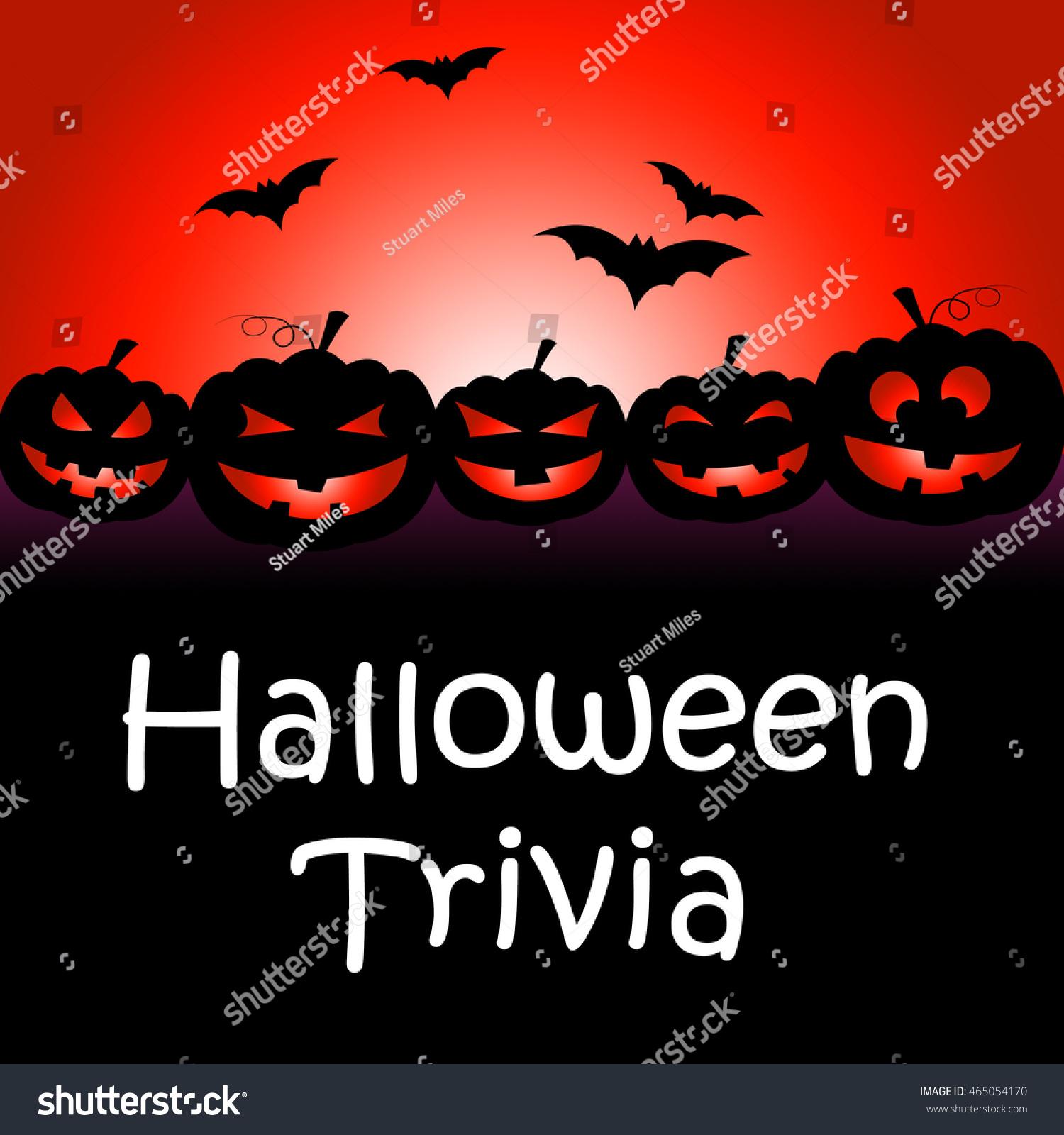 Halloween Trivia Showing Trick Treat Celebration Stock ...