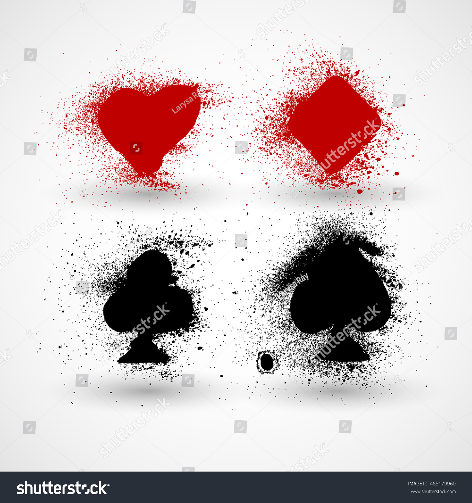 Grunge playing cards symbols set vector stock vector 465179960 grunge playing cards symbols set vector illustration biocorpaavc