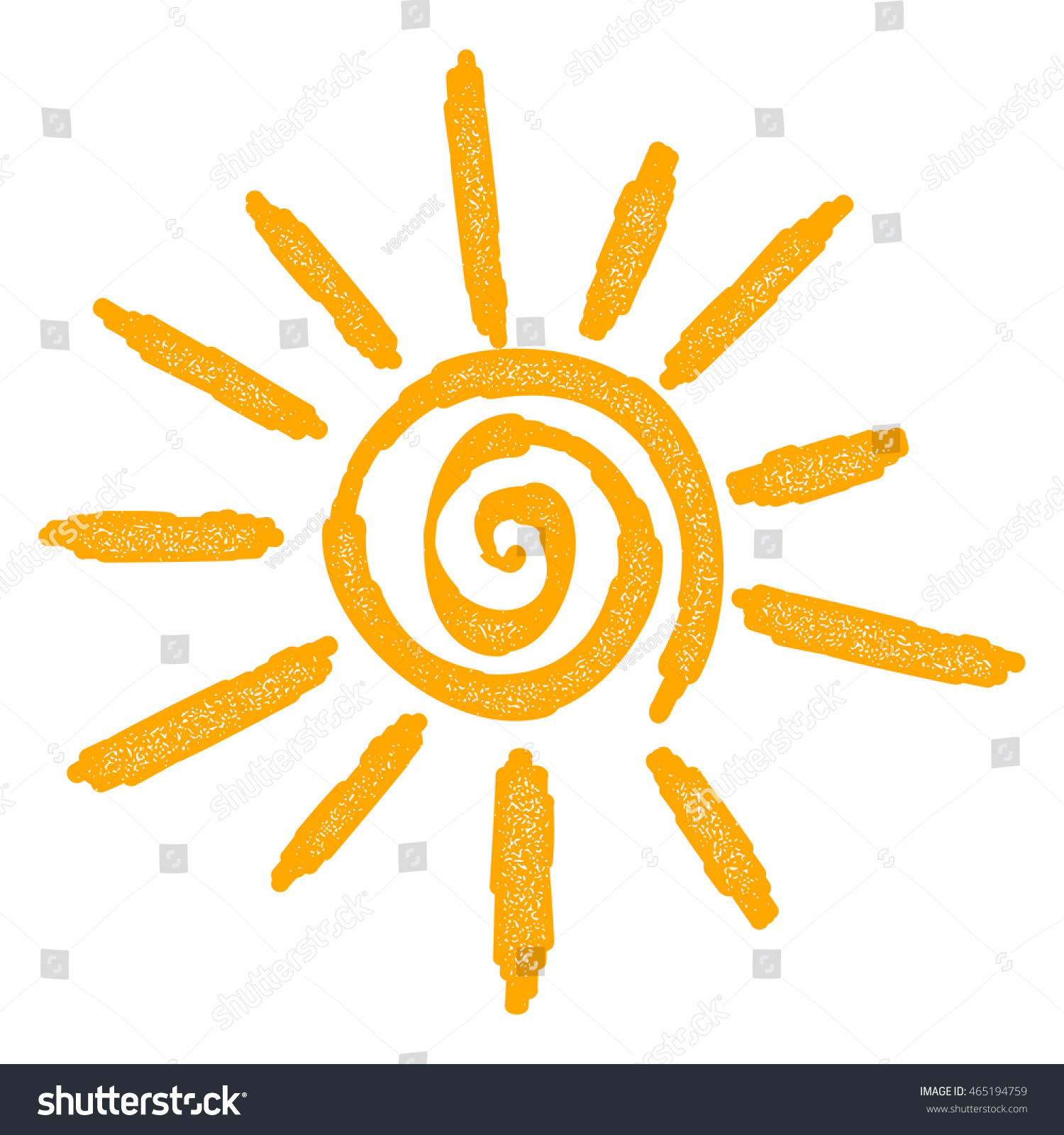 Abstract Yellow Sun Sign On White Stock Vector 465194759 - Shutterstock