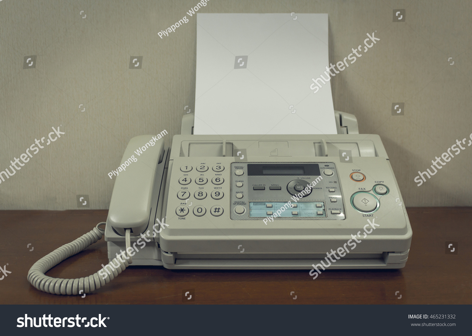 old fax machine on table stock photo edit now 465231332 shutterstock