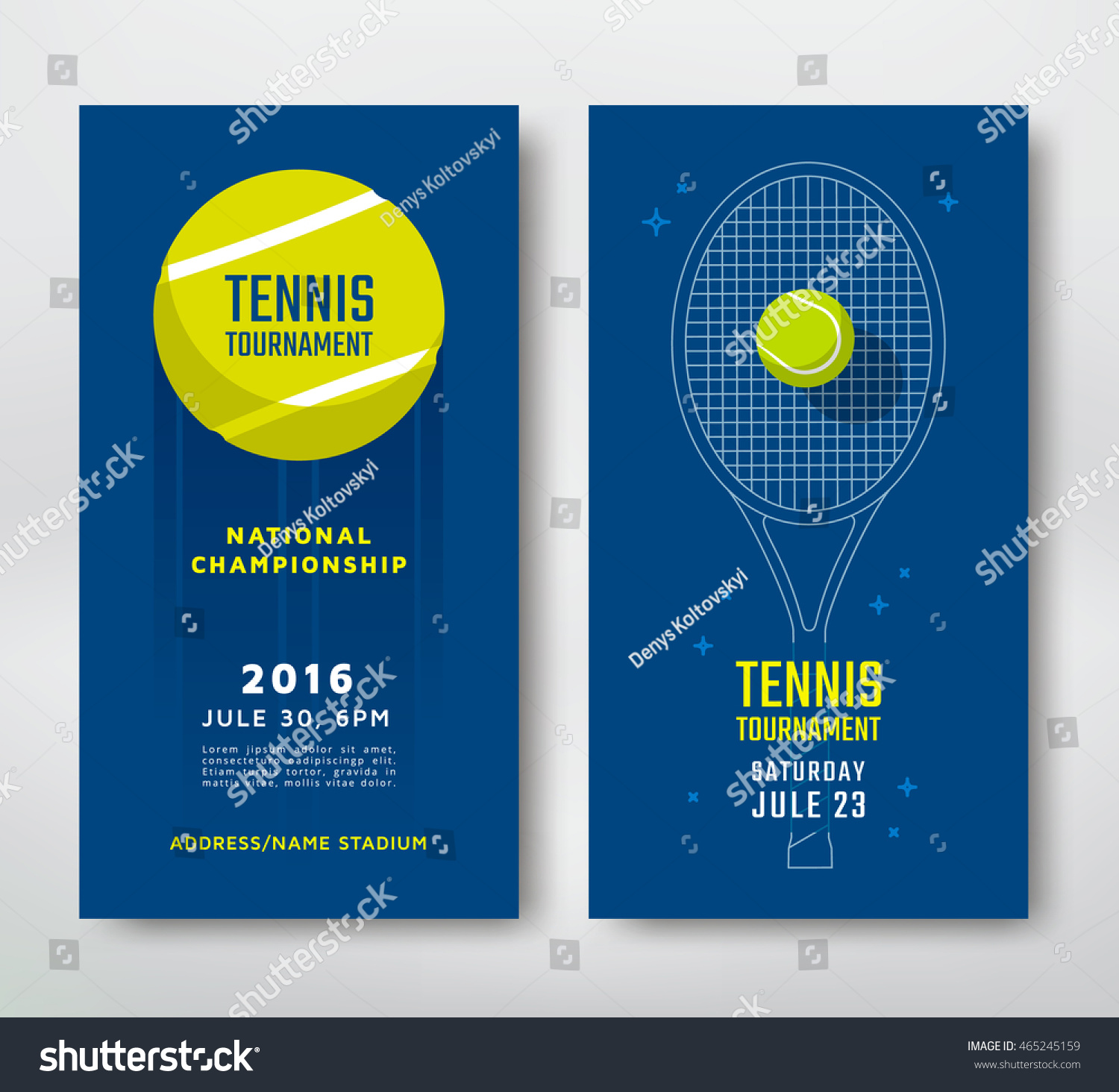 Poster design vector - Tennis Championship Or Tournament Poster Design Vector Illustration