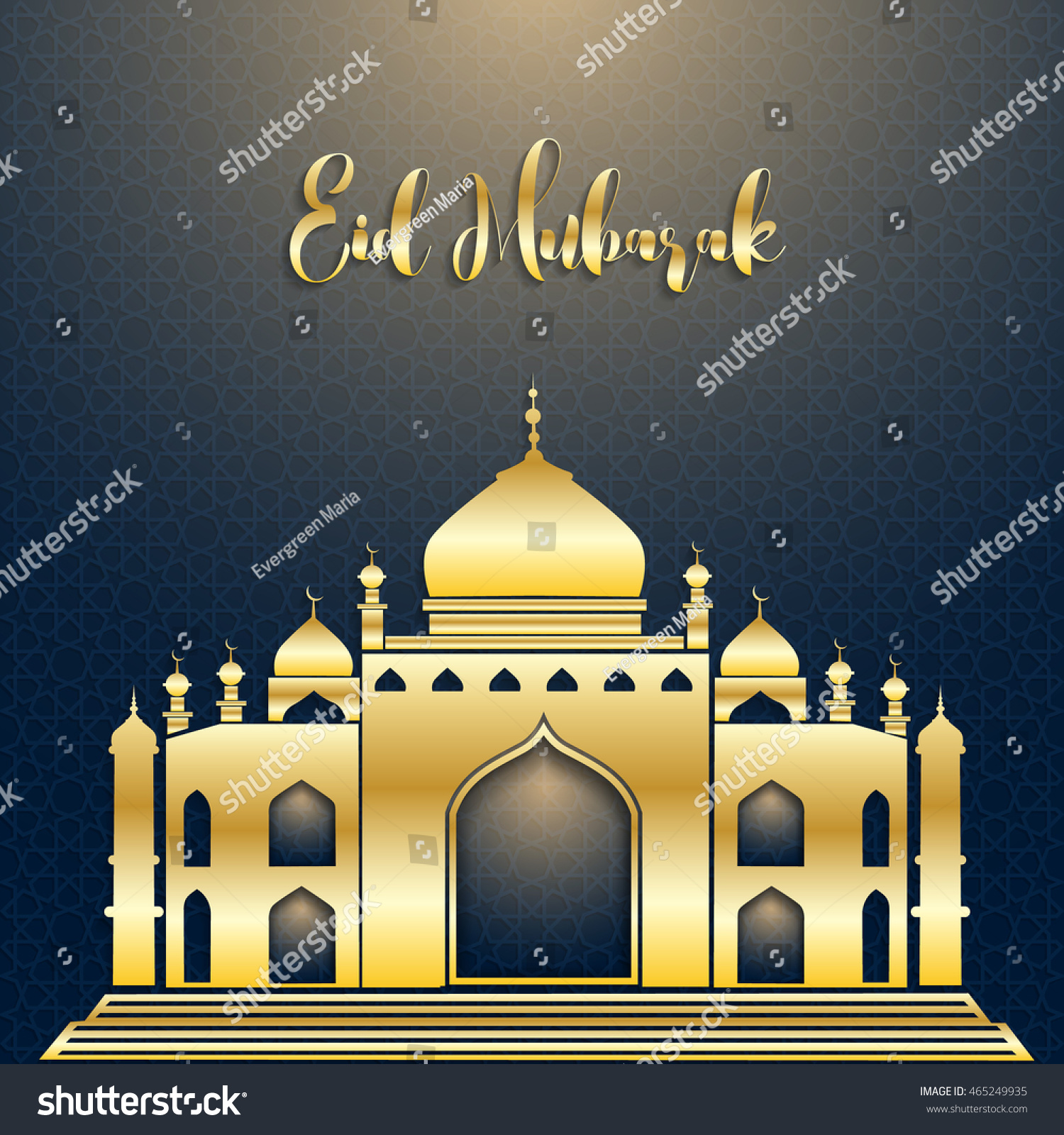 Eid Mubarak Arabic Calligraphy Eid Ul Adha Beautiful Greeting Card