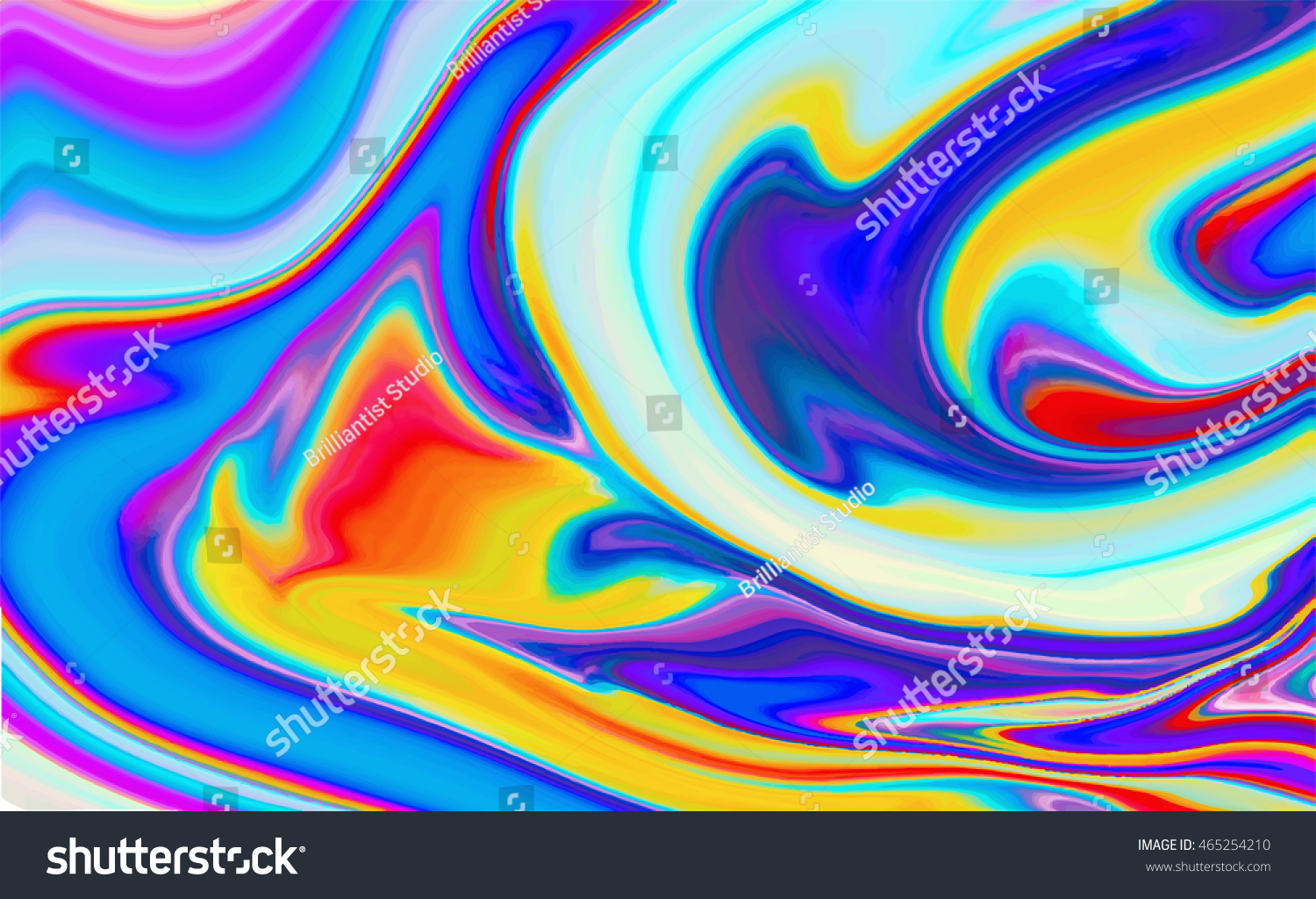 Color Design Art : Holographic abstract background fluid color design stock photo