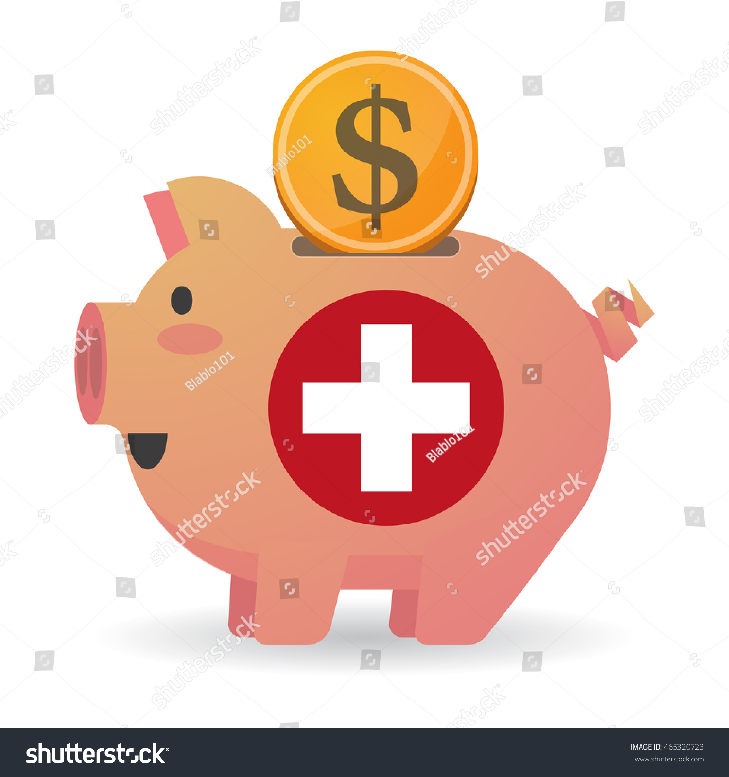 Illustration isolated piggy bank icon swiss stock vector 465320723 illustration of an isolated piggy bank icon with the swiss flag buycottarizona Image collections