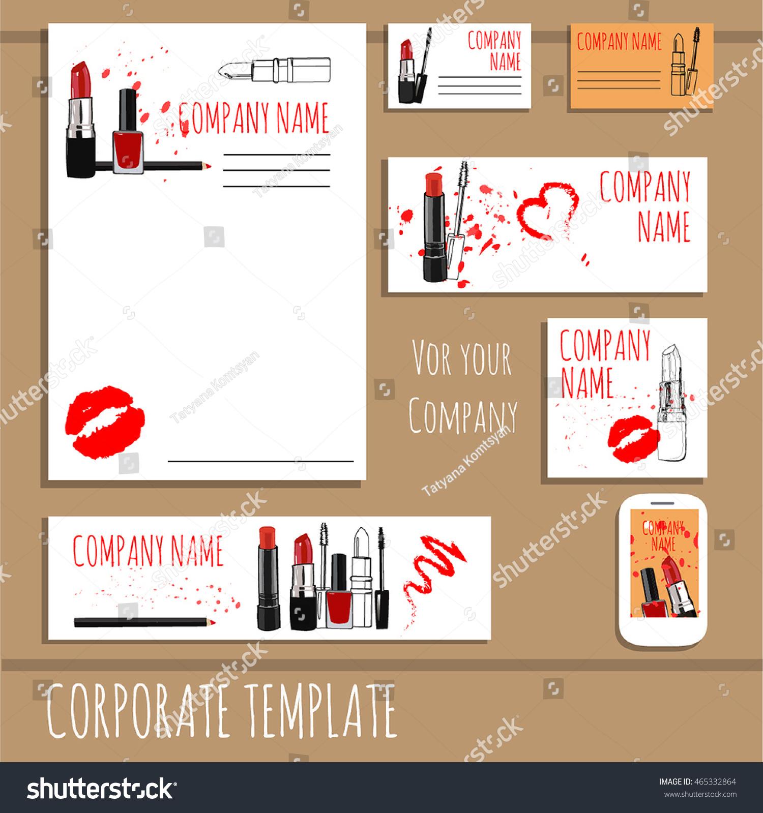 Business Card Design Fashion Cosmetics Accessories Stock Vector HD ...