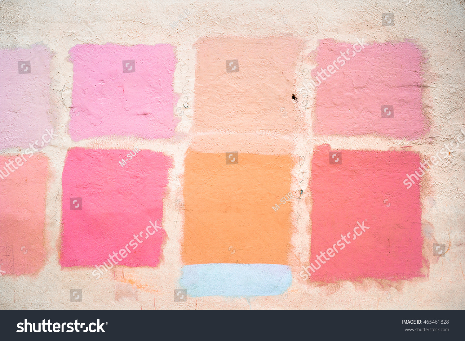 Picking Color Colour On Plastered Wall Stock Photo (Edit Now ...