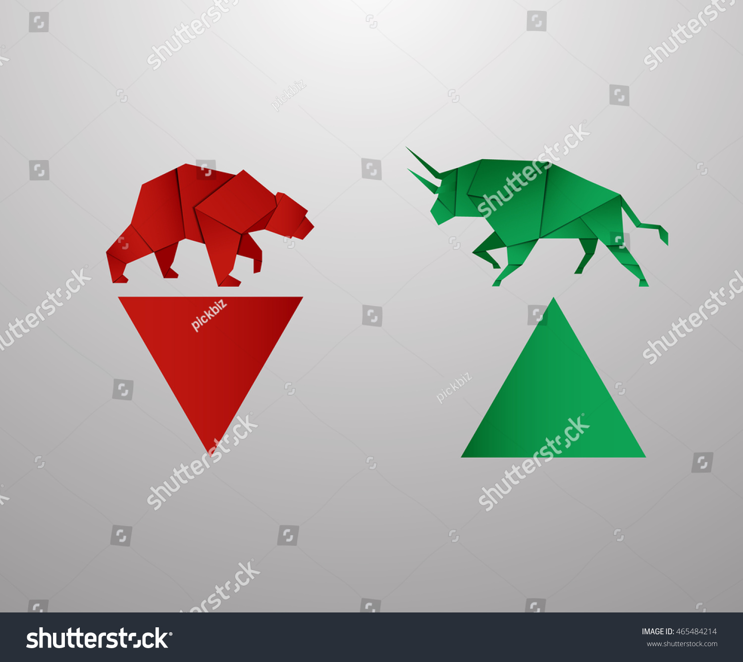 Bull bear paper art red bar stock vector 465484214 shutterstock bull and bear paper art and red bar paper art for stock market vector and illustration buycottarizona