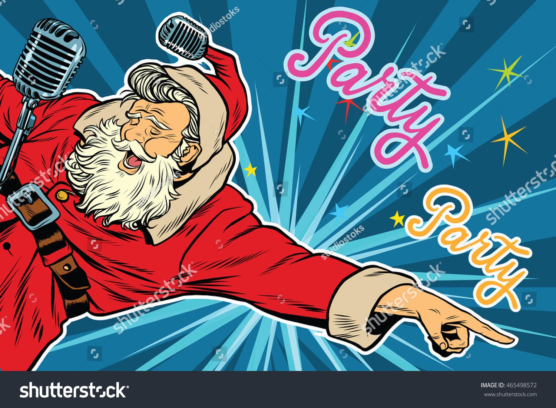 Pop Art Invitation Christmas Party Retro Stock Vector 465498572 ...