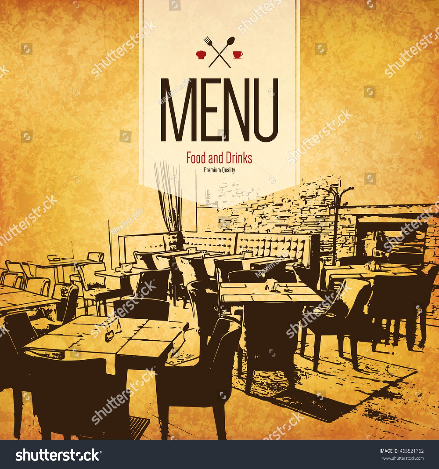 Restaurant menu design vector brochure stock