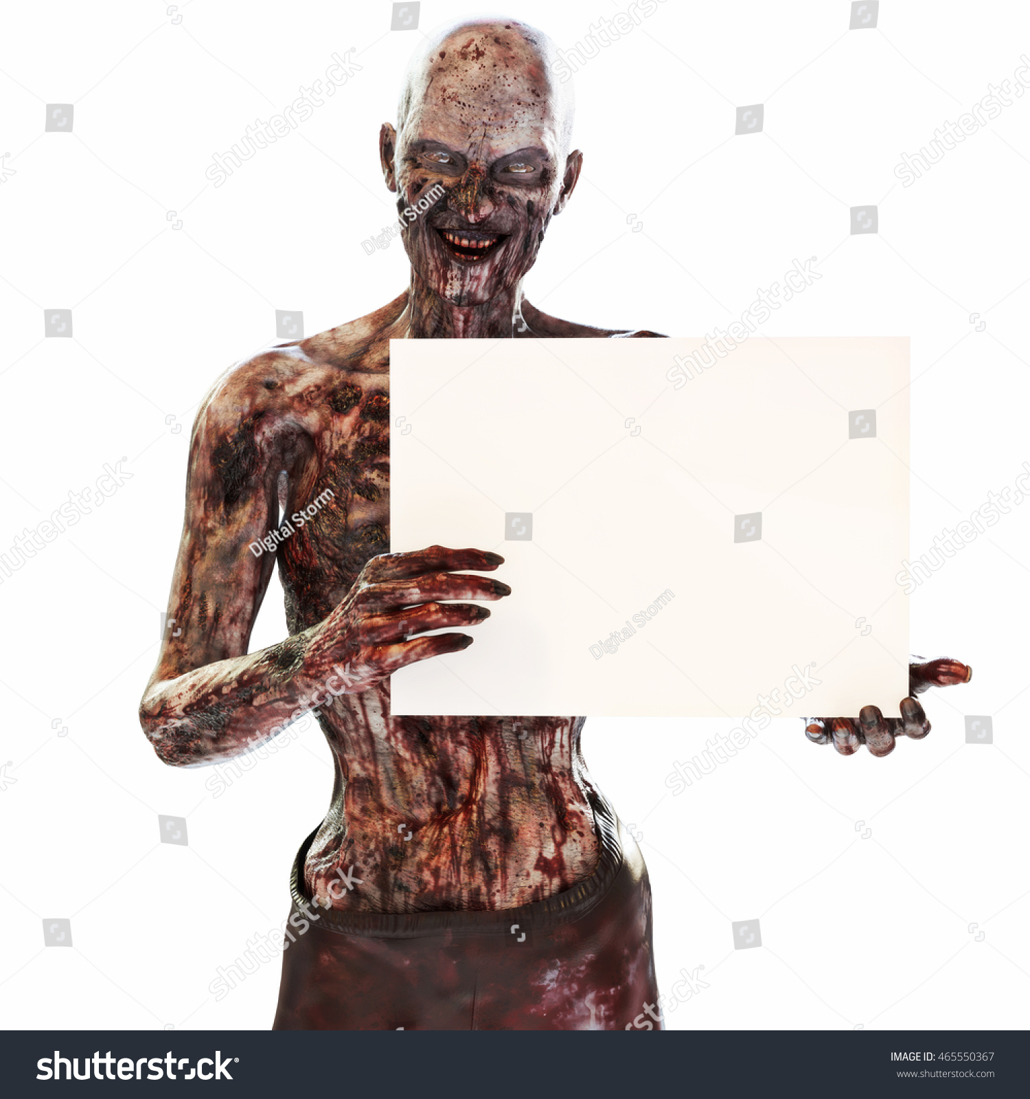 Zombie Holding Sign Zombie Undead Holding ...