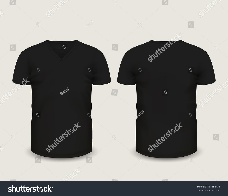 d126ac01a73 Men s black V-neck t-shirt short sleeve… Stock Photo 465556436 ...