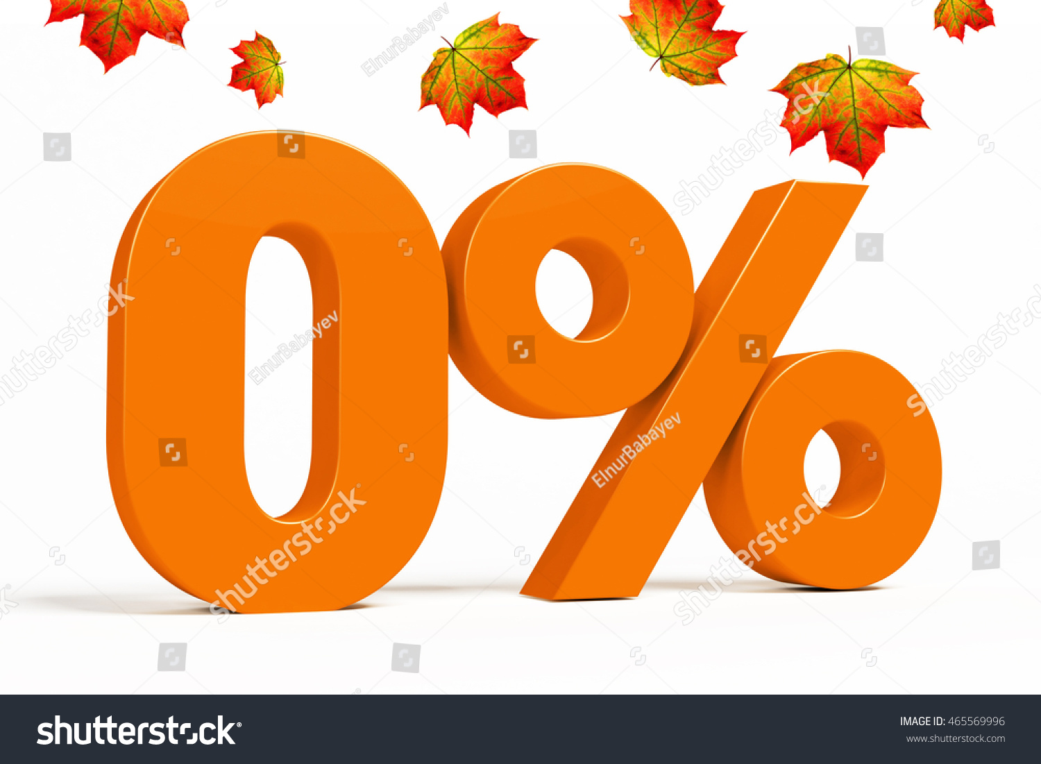 Orange 3d 0 percent text on stock illustration 465569996 orange 3d 0 percent text on white background with leaves for autumn sale campaigns buycottarizona