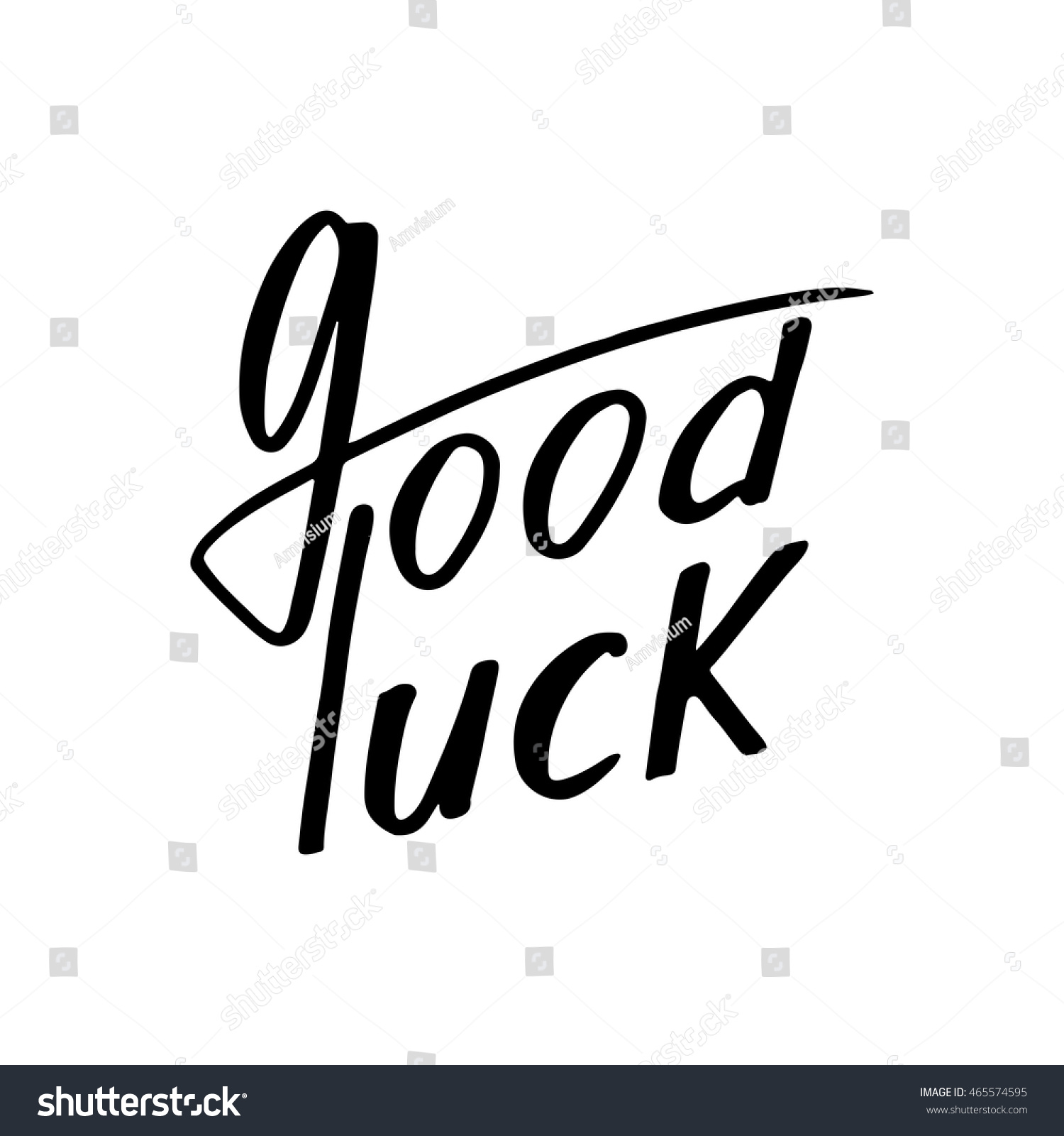 Good luck greeting card hand drawn stock vector 465574595 good luck greeting card with hand drawn calligraphy letters for creativity concepts and ideas of a kristyandbryce Images