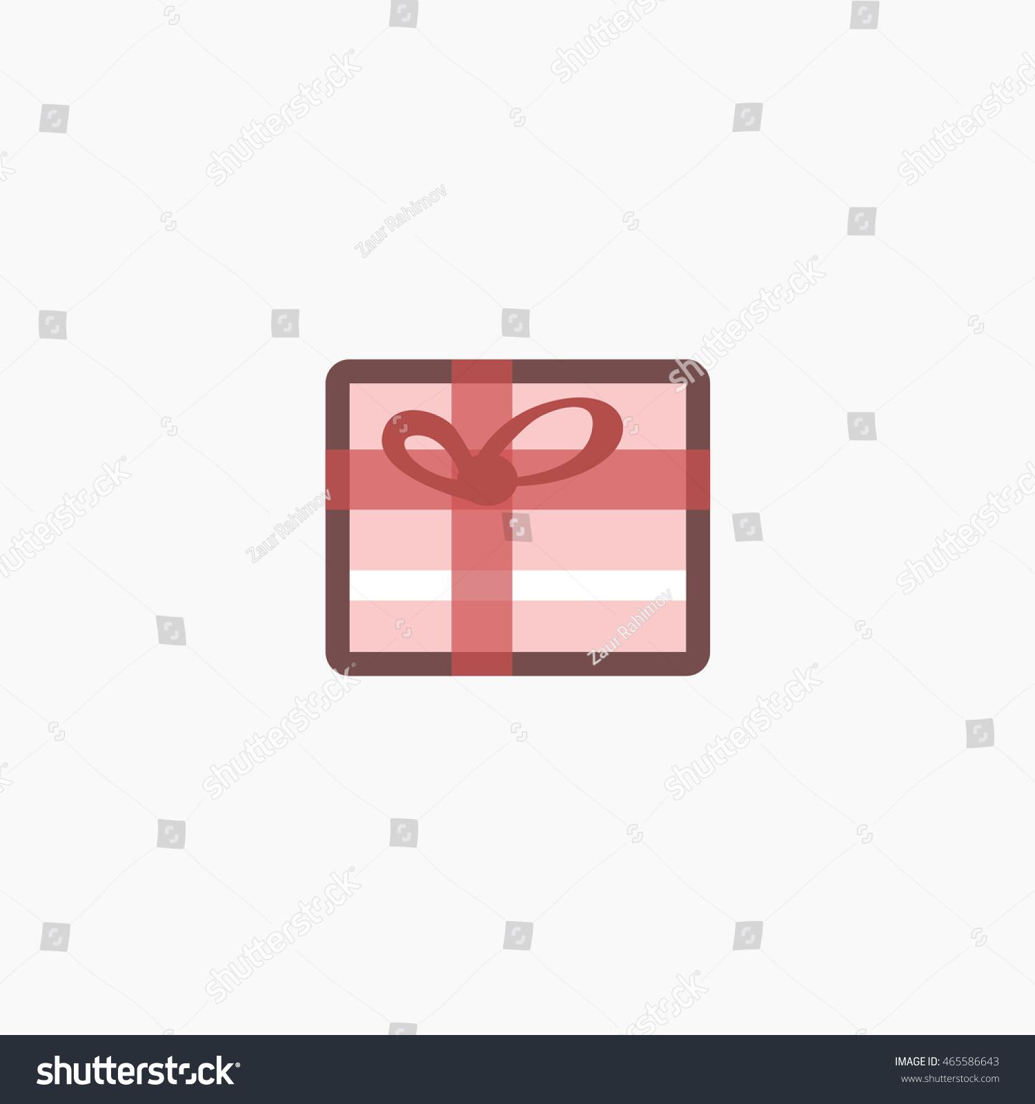 Facebook Gift Icon Vector Present Graphic Stock Vector 465586643