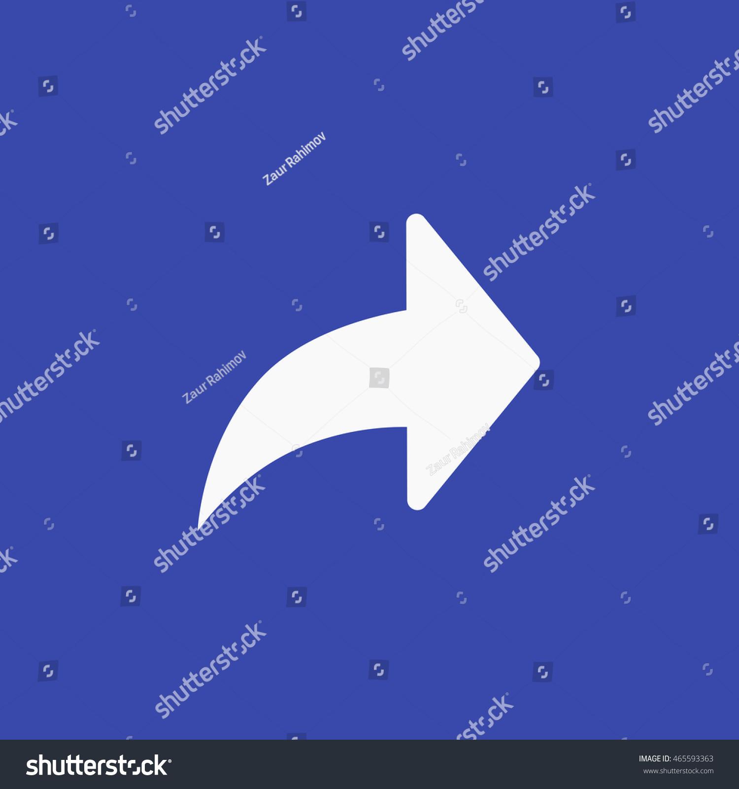 Facebook Forward Icon Vector Arrow Graphic Stock Photo Photo
