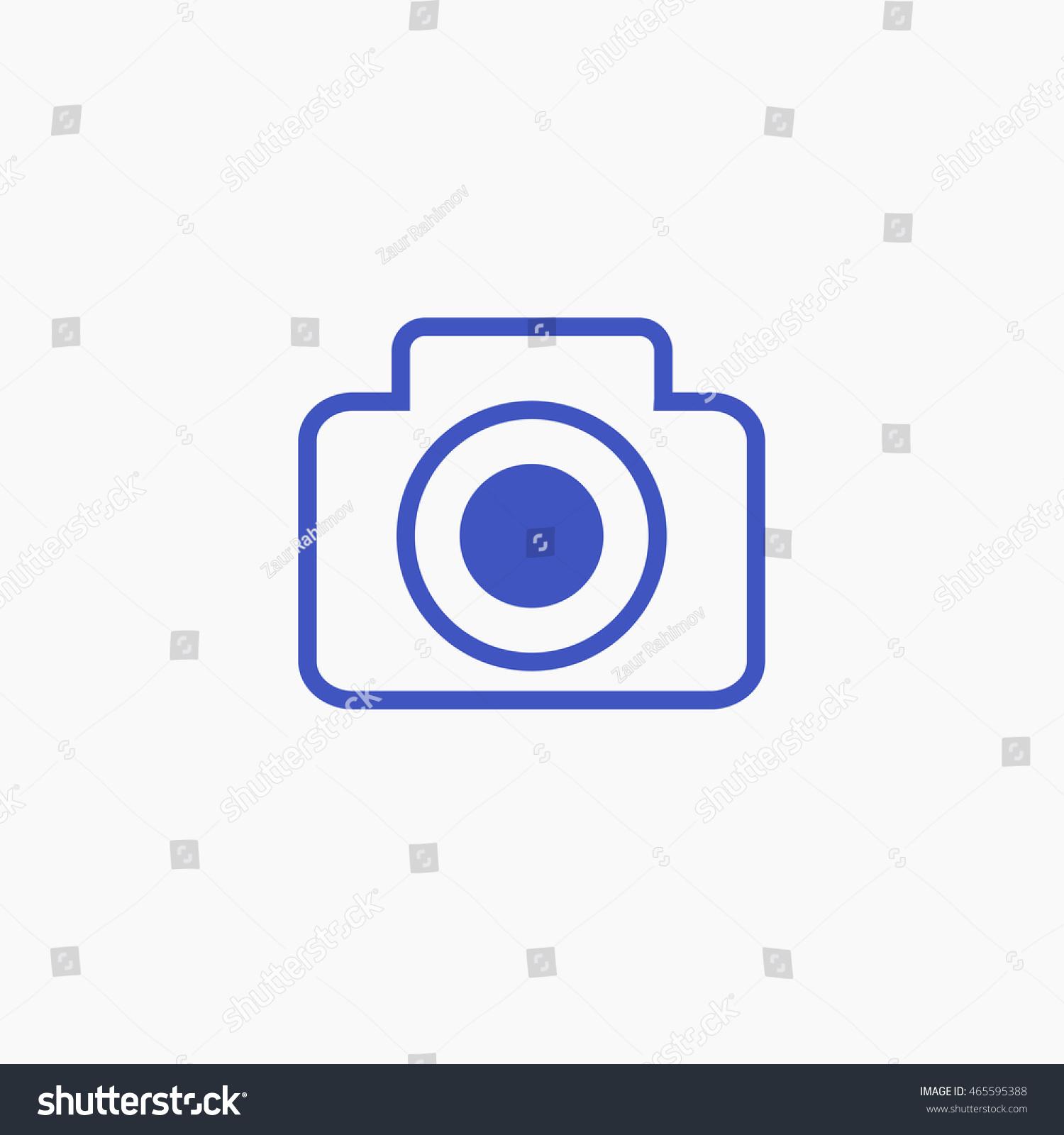 Facebook post photo icon vector camera stock vector for Facebook camera