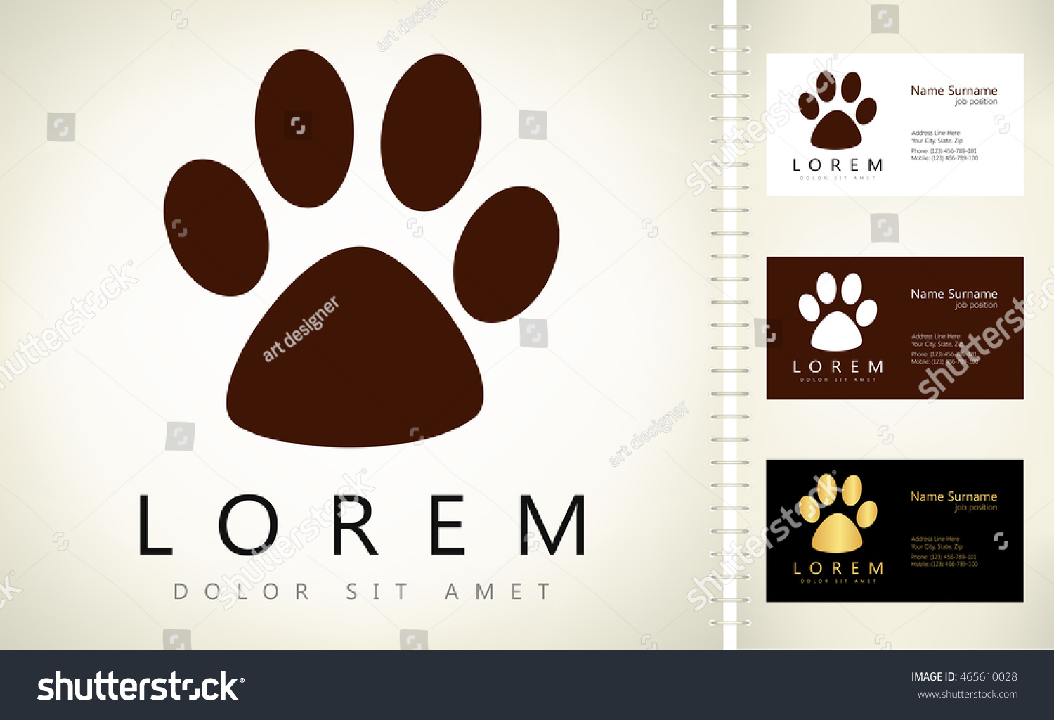 Paw Print Business Cards Gallery - Free Business Cards