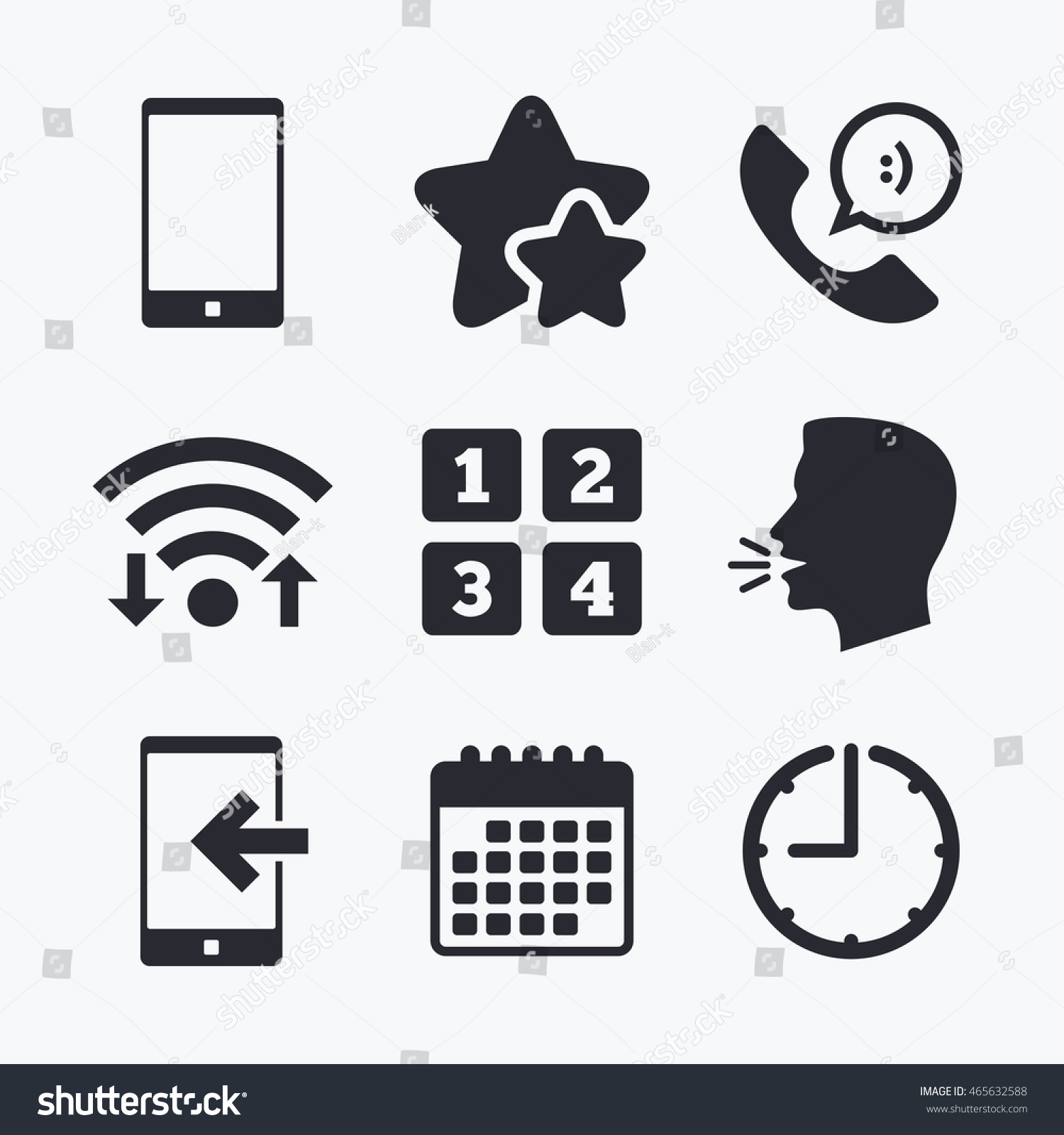 Phone icons smartphone incoming call sign stock vector 465632588 phone icons smartphone incoming call sign call center support symbol cellphone keyboard symbol biocorpaavc