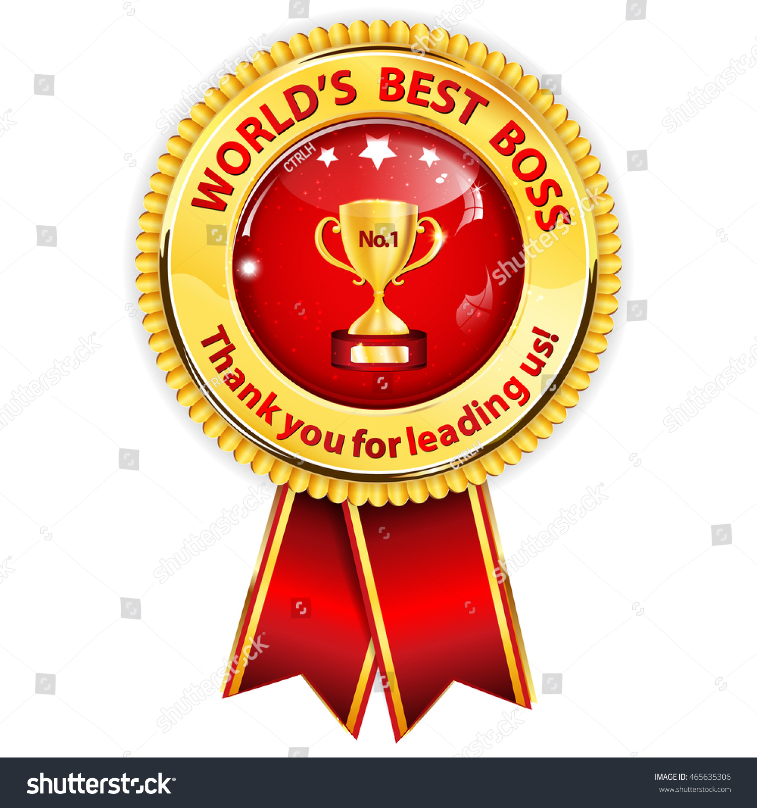 worlds best boss thank you leading stock vector royalty free