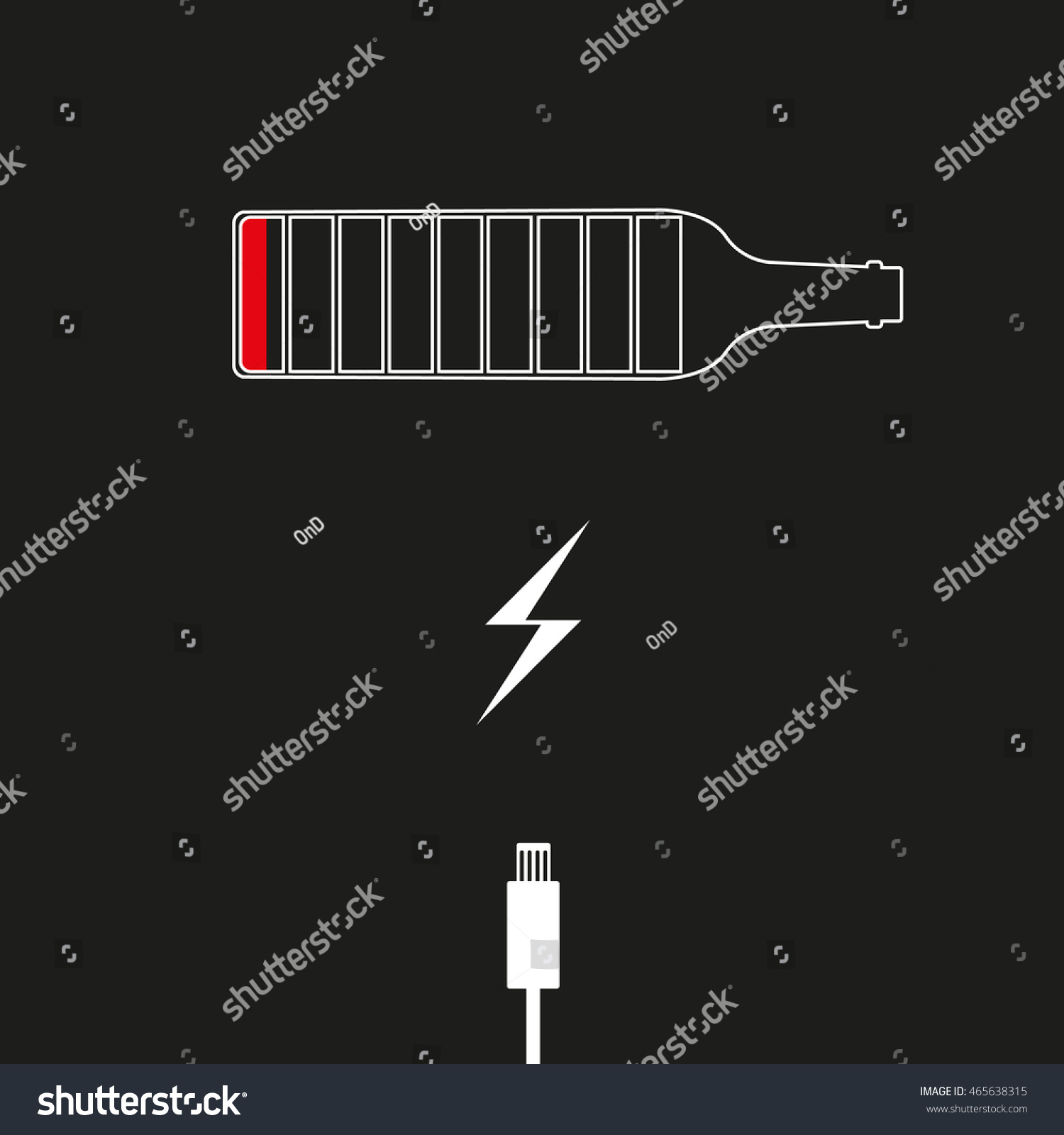 Abstract Bottle Beverage Alcohol Charged Symbol Stock Illustration