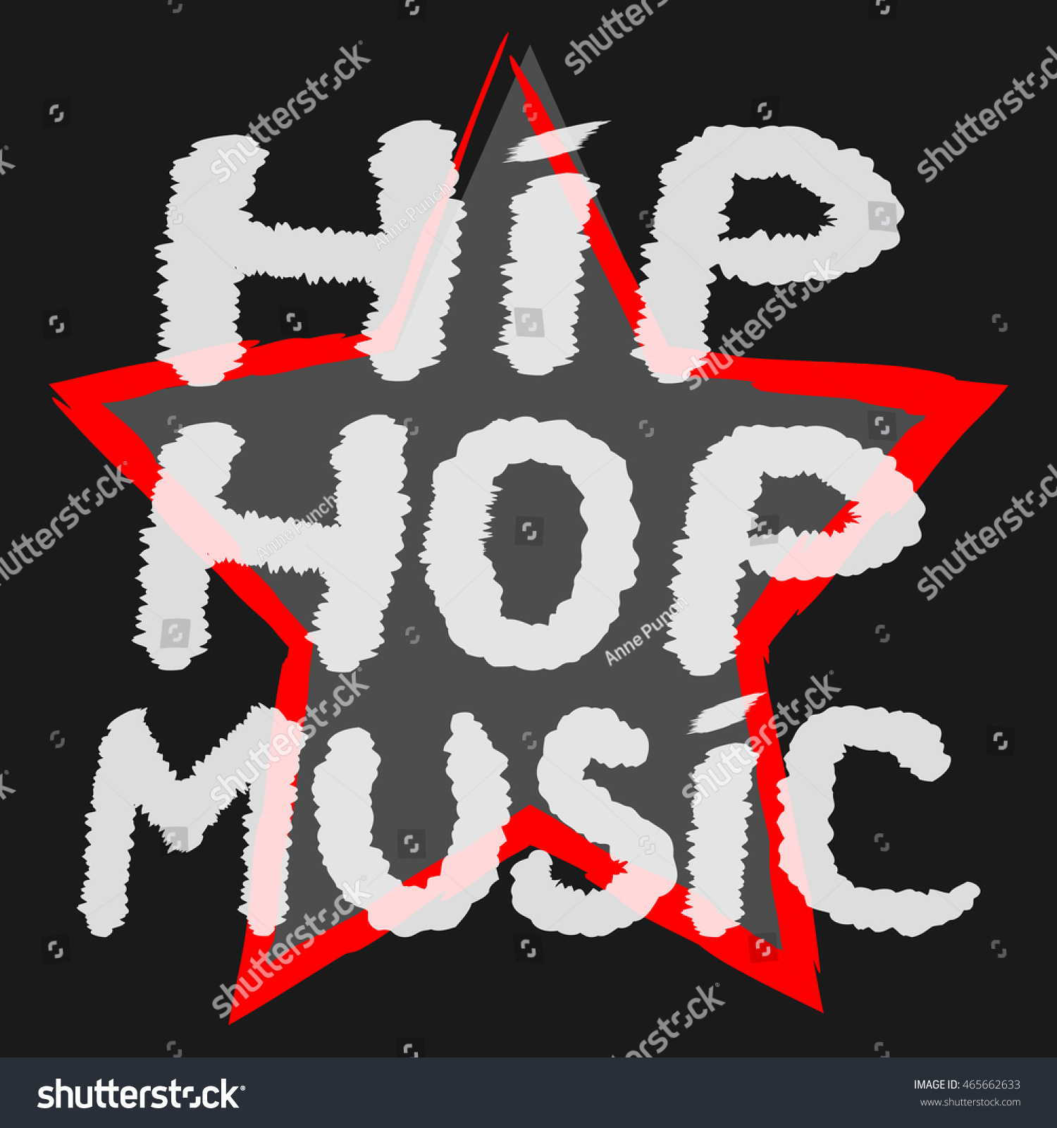 Text Hip Hop Music Handwritten Rough Stock Vector 465662633