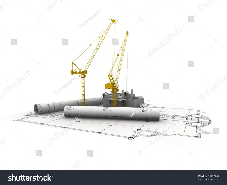 3d Plan Drawing Stock Photo 46567528 Shutterstock