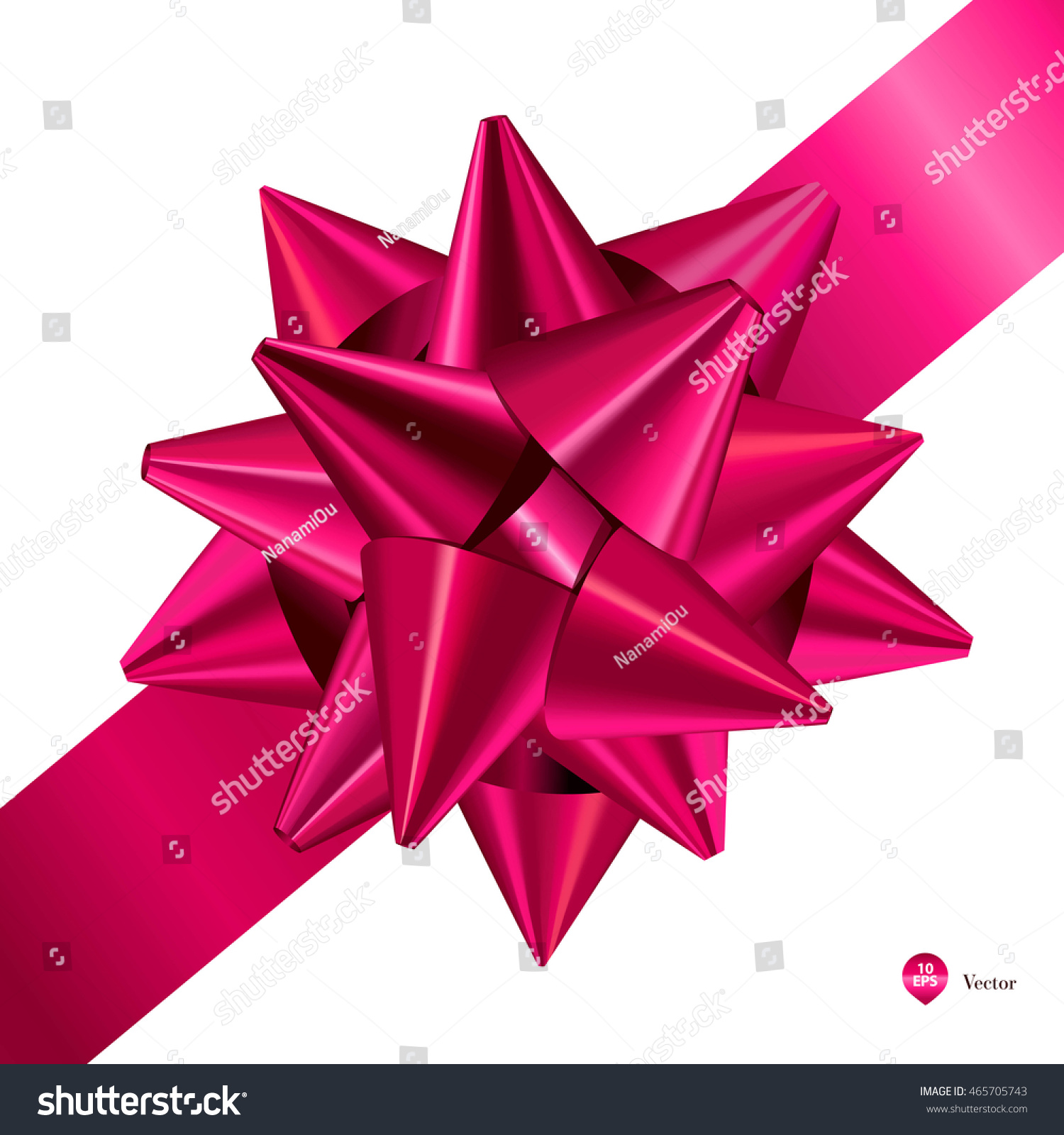 Pink gift bows ribbons detailed realistic stock vector 465705743 pink gift bows with ribbons detailed and realistic vector illustration negle Images