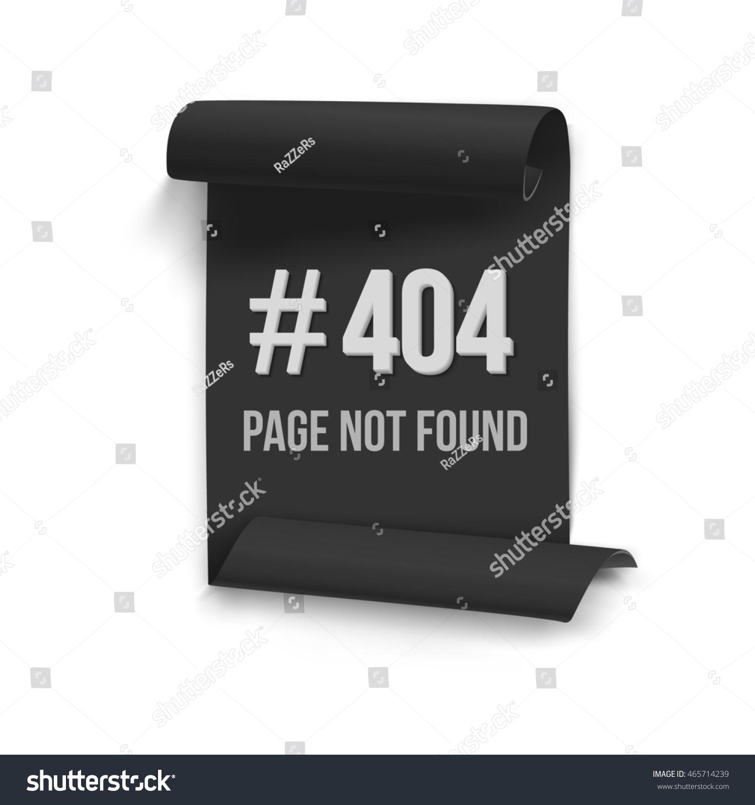Illustration Error 404 Folded Paper Banner Stock Illustration ...