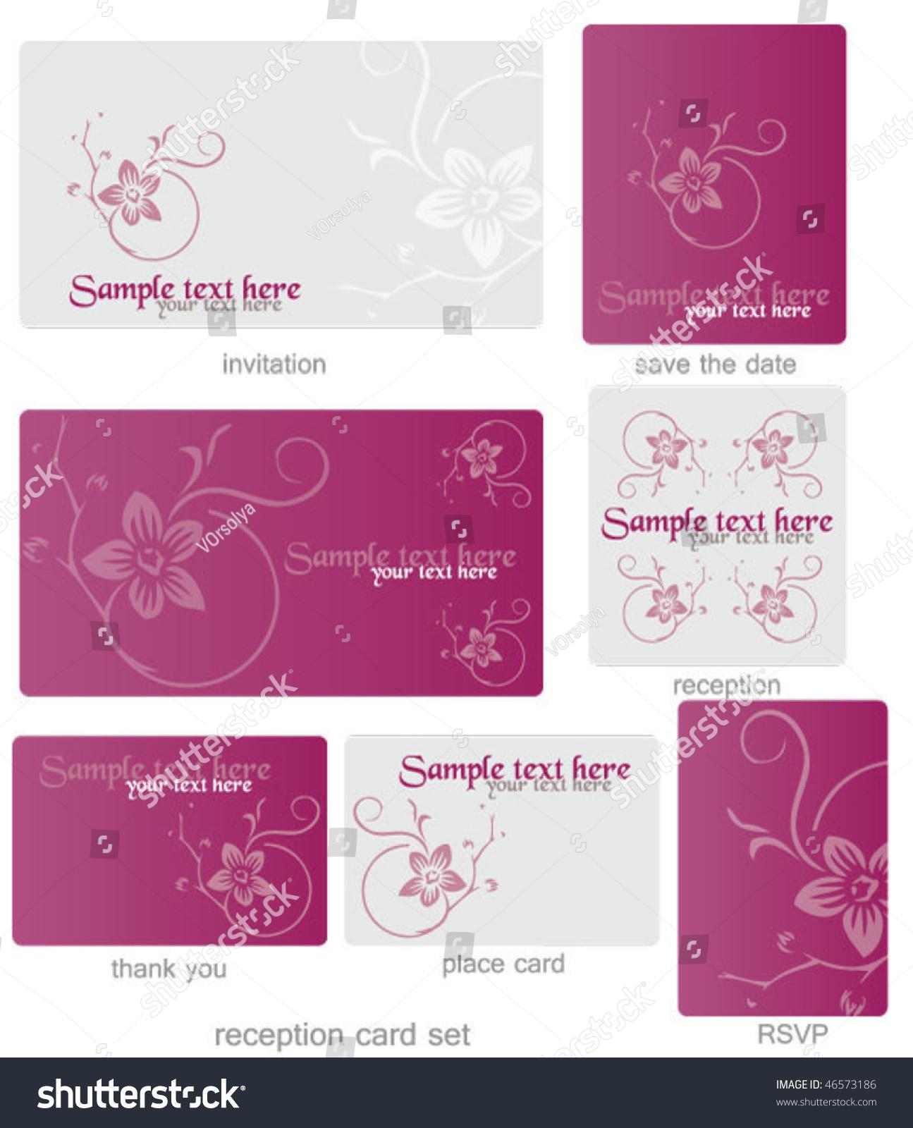 Wedding Template Set Stock Vector (2018) 46573186 - Shutterstock