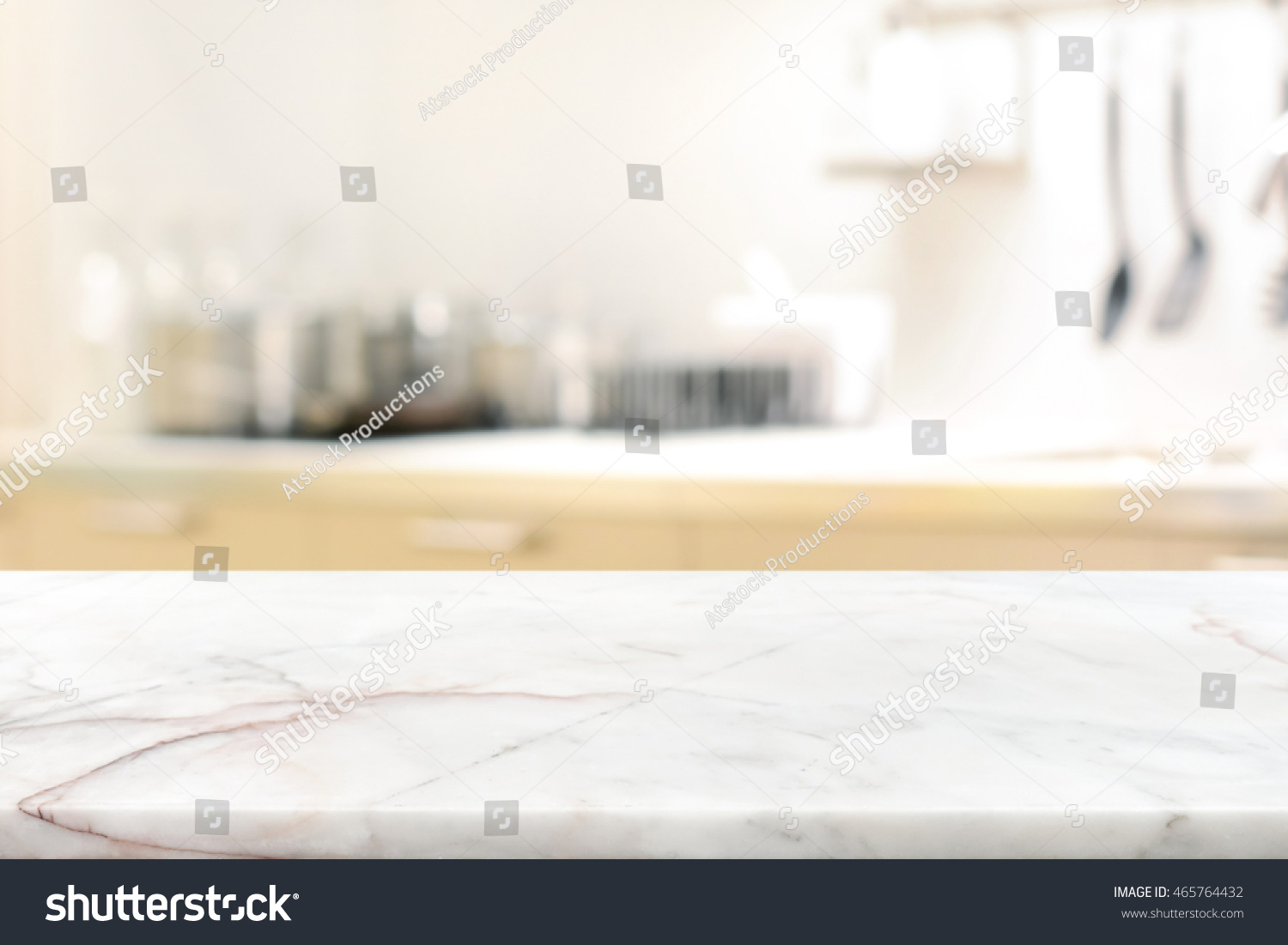 marble stone table top kitchen island stock photo 465764432